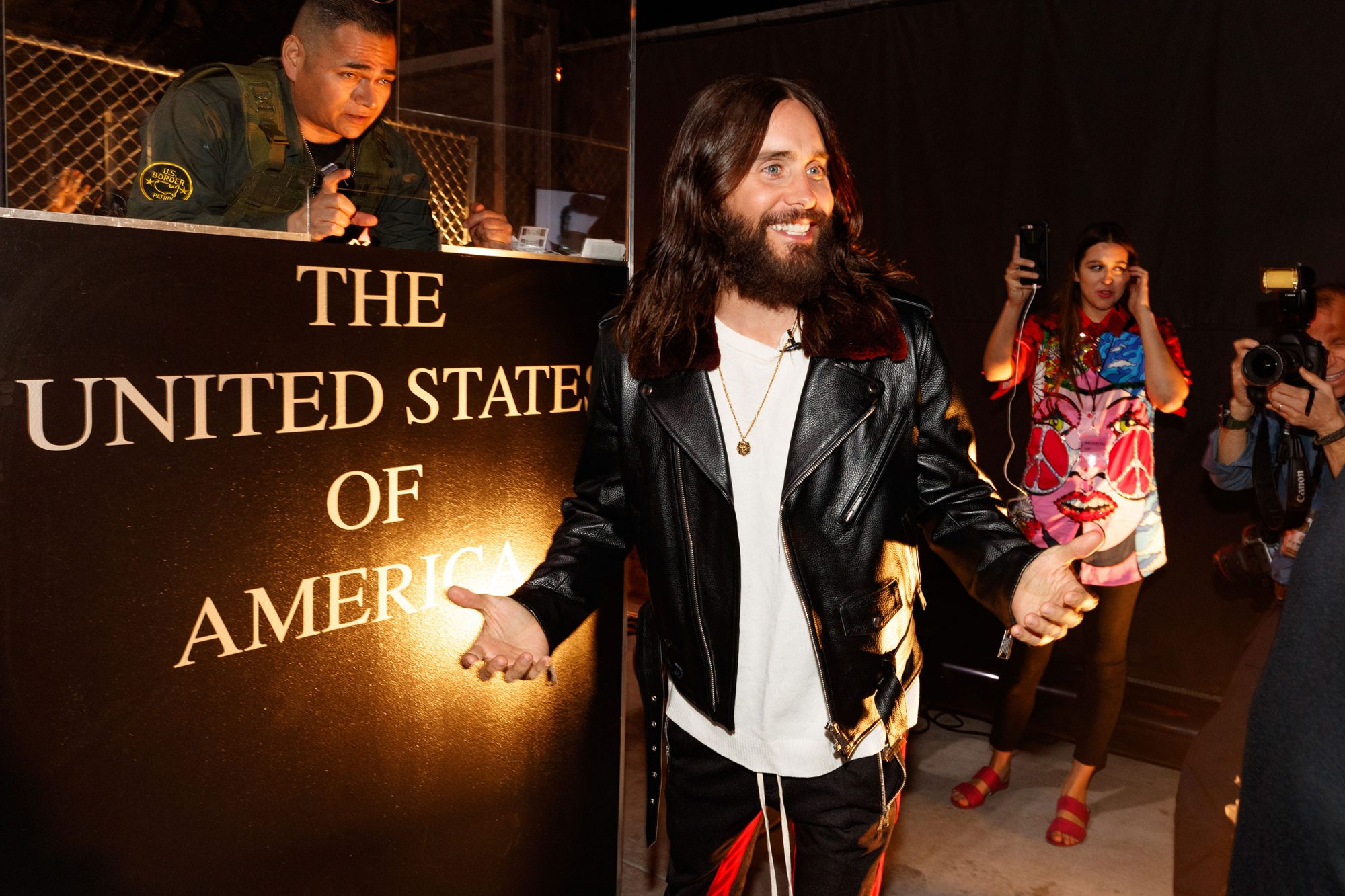 Jared Leto Of Thirty Seconds To Mars Visits Los Angeles On The Mars Across America Tour