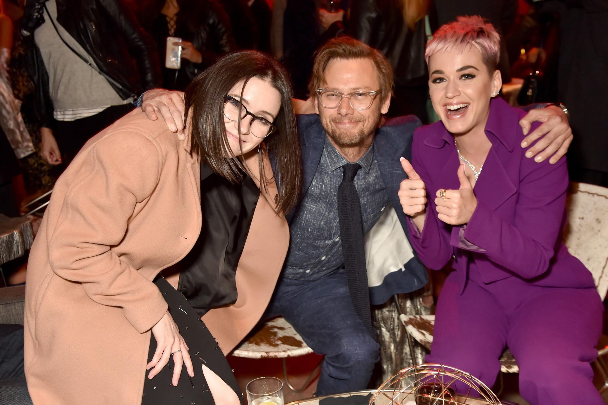 Shannon Woodward, Jimmi Simpson, and Katy Perry