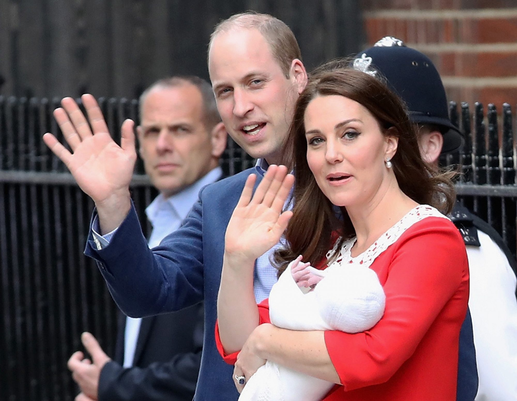 The Duke & Duchess Of Cambridge Depart The Lindo Wing With Their Baby Boy