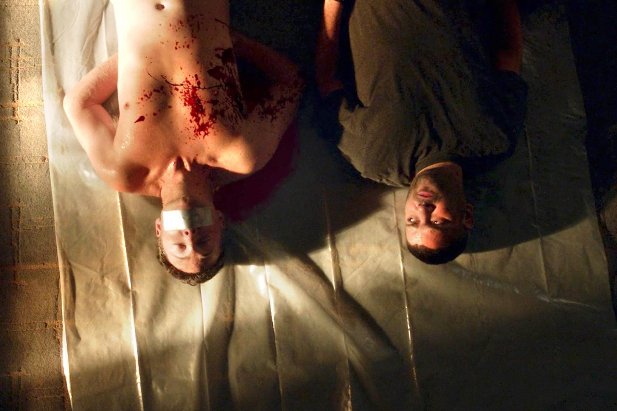 "SCANDALScreengrab""Crash and Burn""Pictured: Guillermo Diaz and George Newburn"