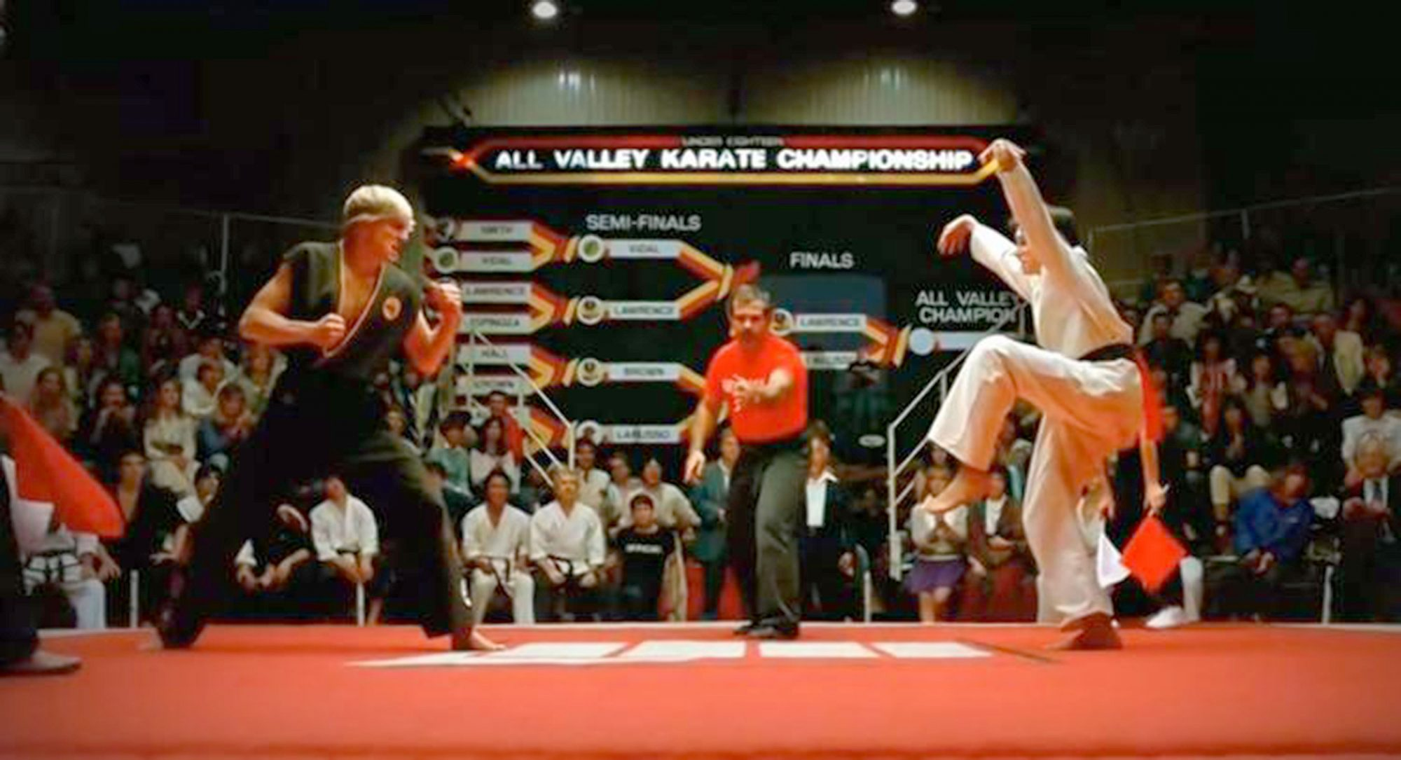 The Karate Kid crane kick (screen grab)Credit: Columbia Pictures