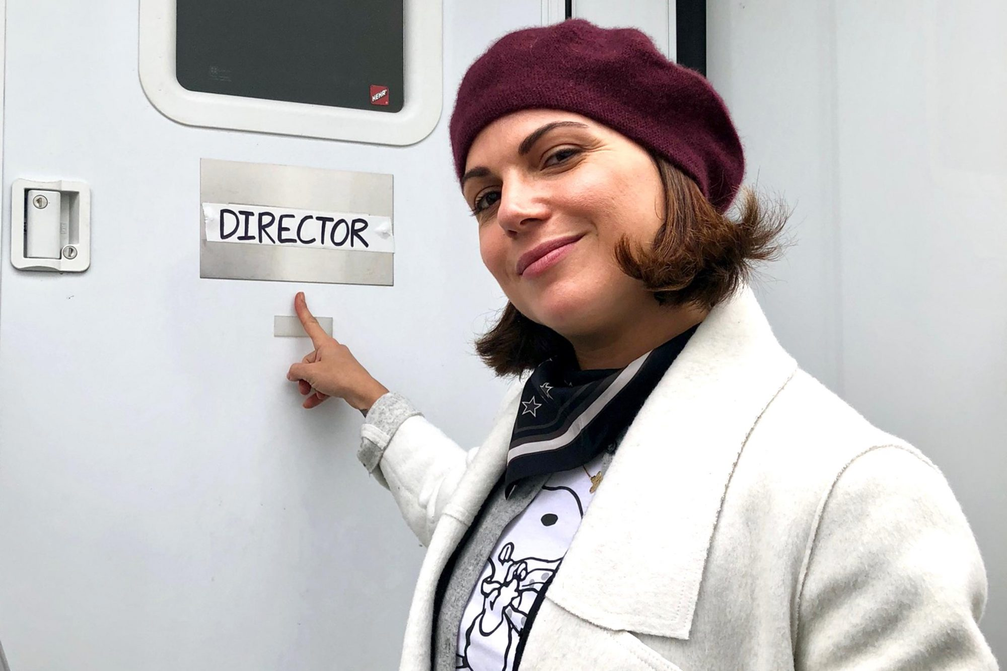 Lana Parrilla Directing Once Upon A Time set photos CR: Lana Parrilla