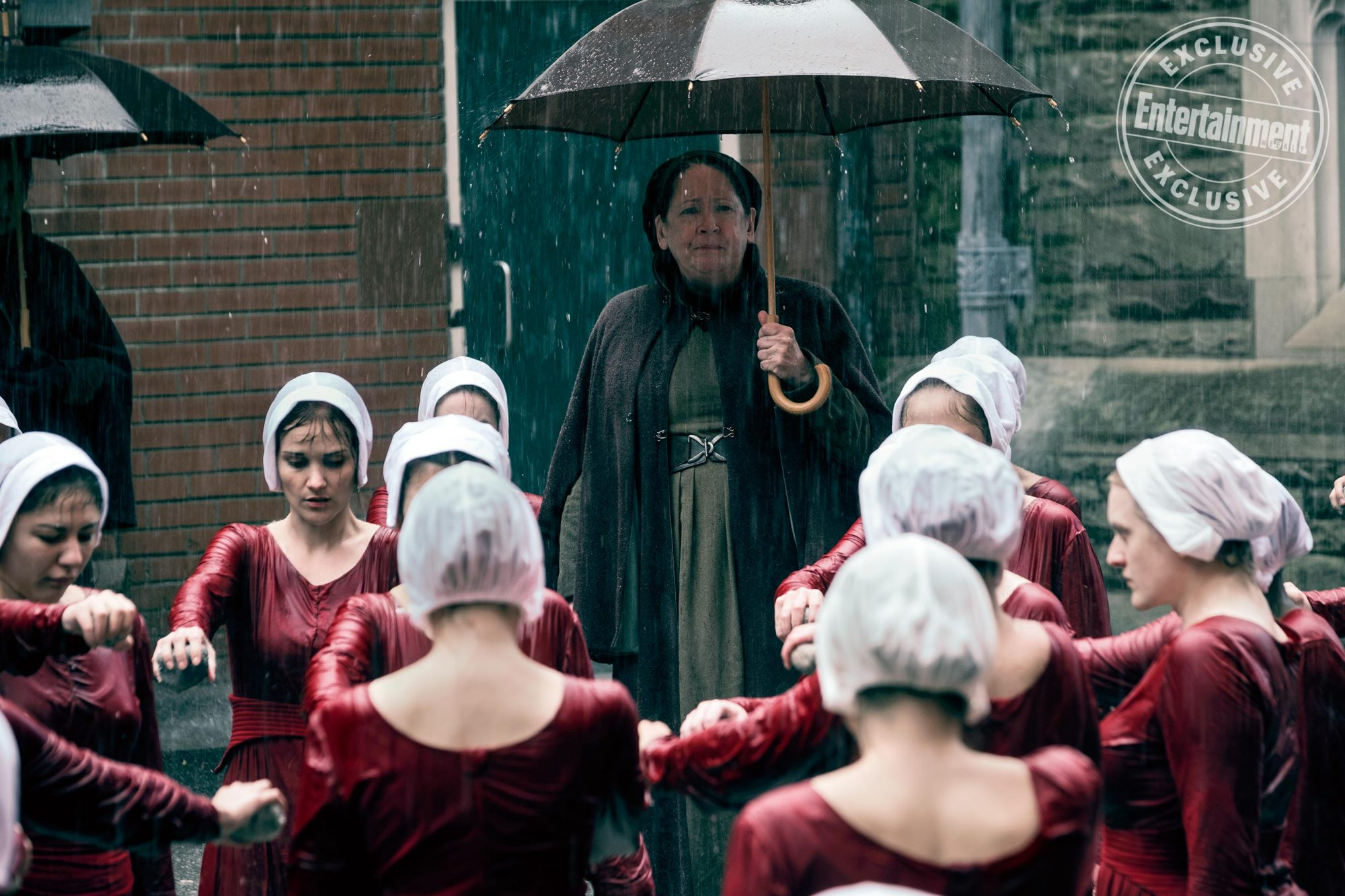 Only one umbrella (and one Aunt Lydia)