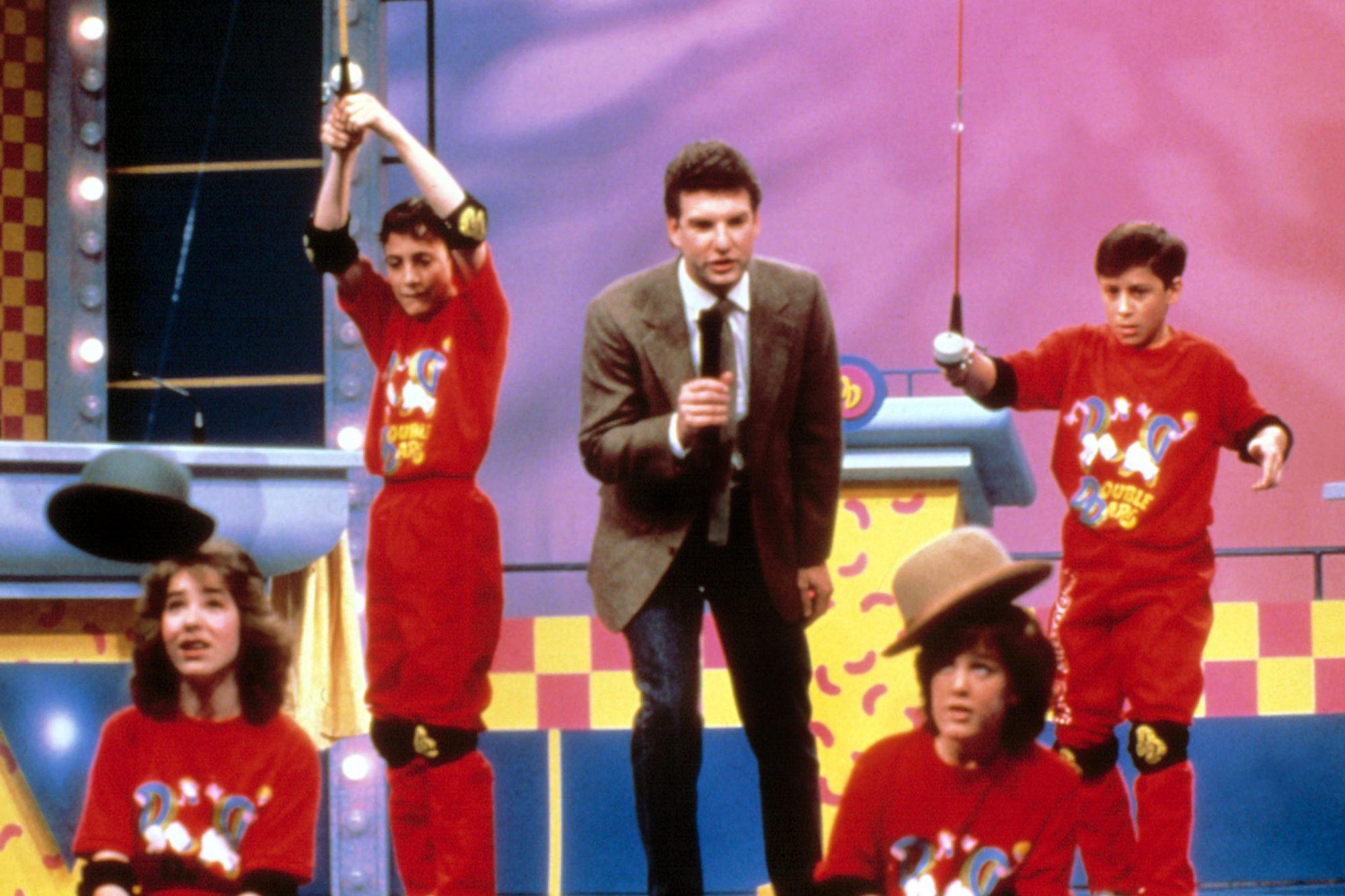 DOUBLE DARE, Host Marc Summers w/ contestants, circa 1986, 1986-present