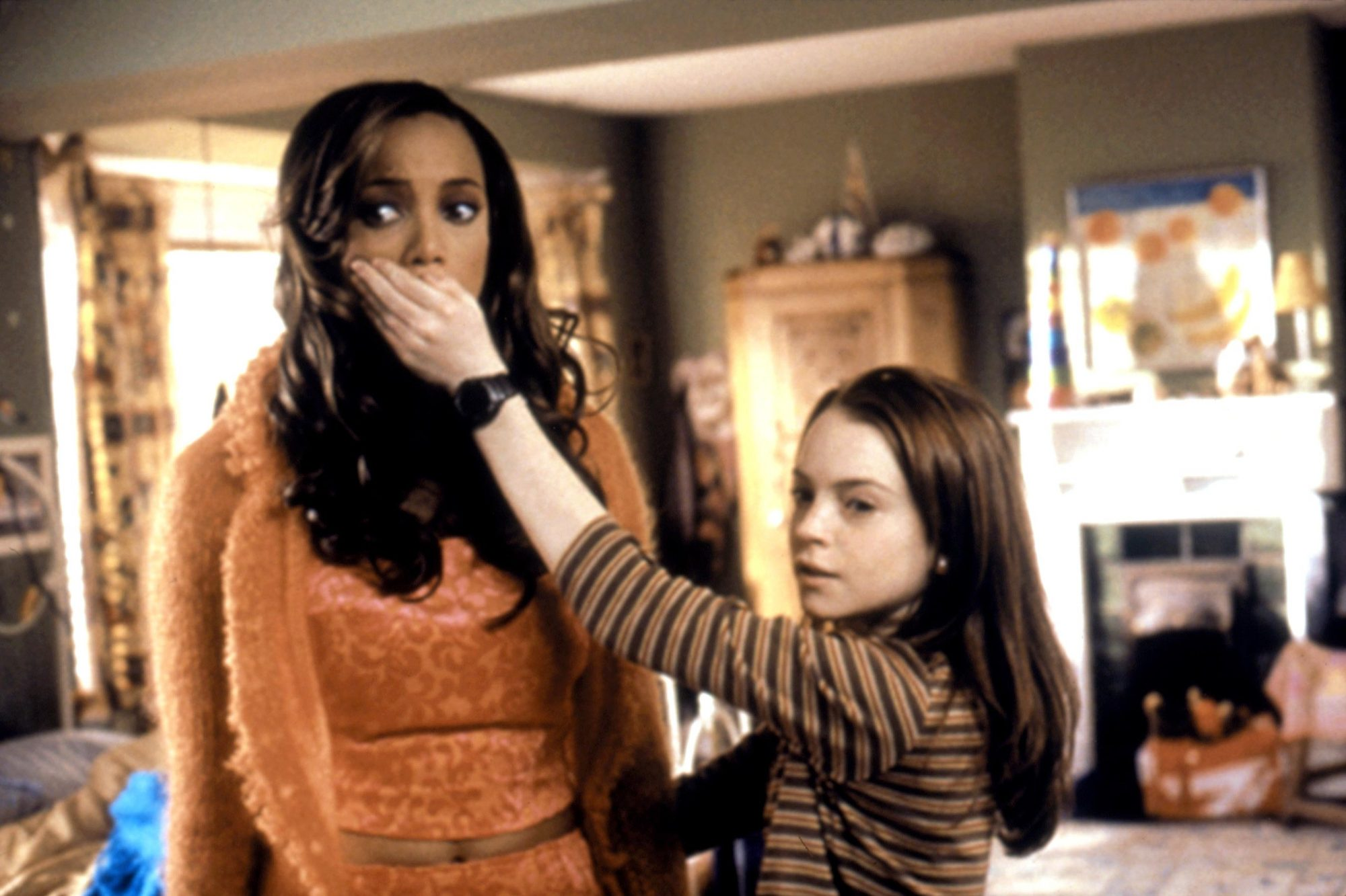 LIFE-SIZE, Tyra Banks, Lindsay Lohan, 2000, © Walt Disney Co. / Courtesy: Everett Collection