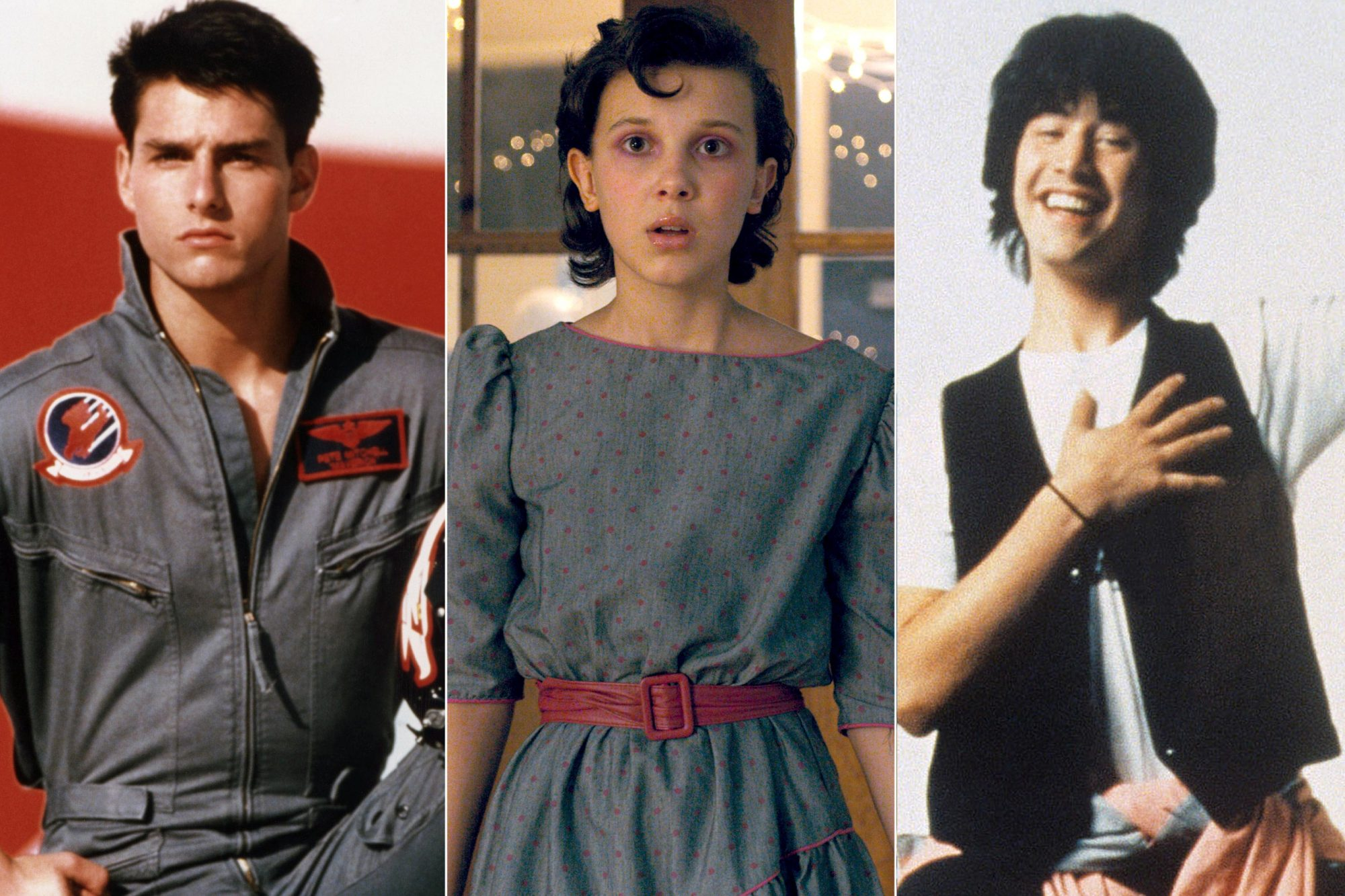 Top Gun, Stranger Things, Bill and Ted's Excellent Adventure