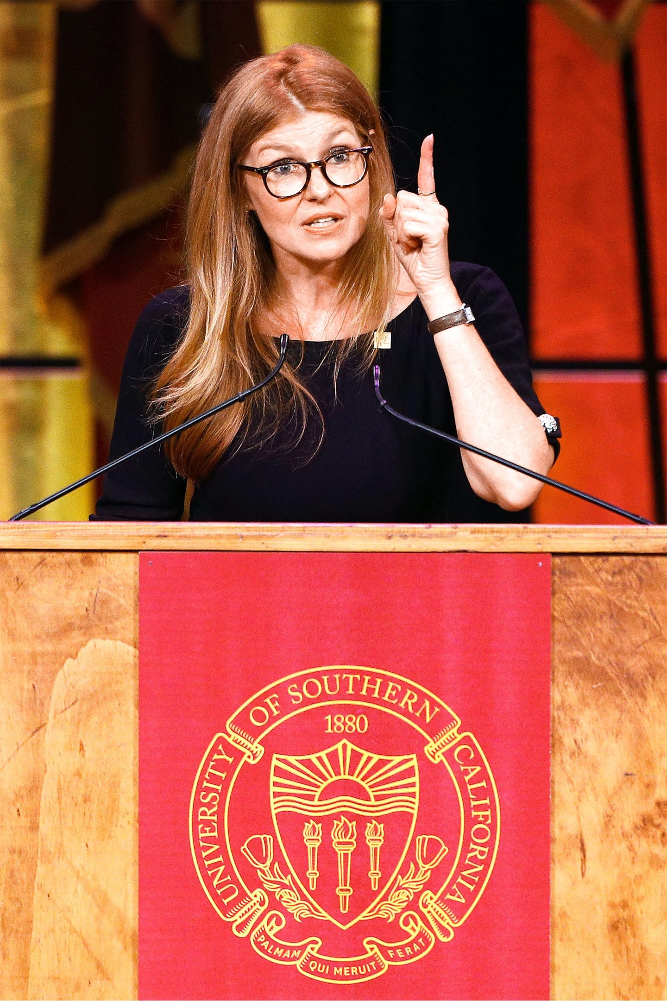 Connie Britton Delivers Keynote Address For The USC School Of Dramatic Arts' Commencement Ceremony
