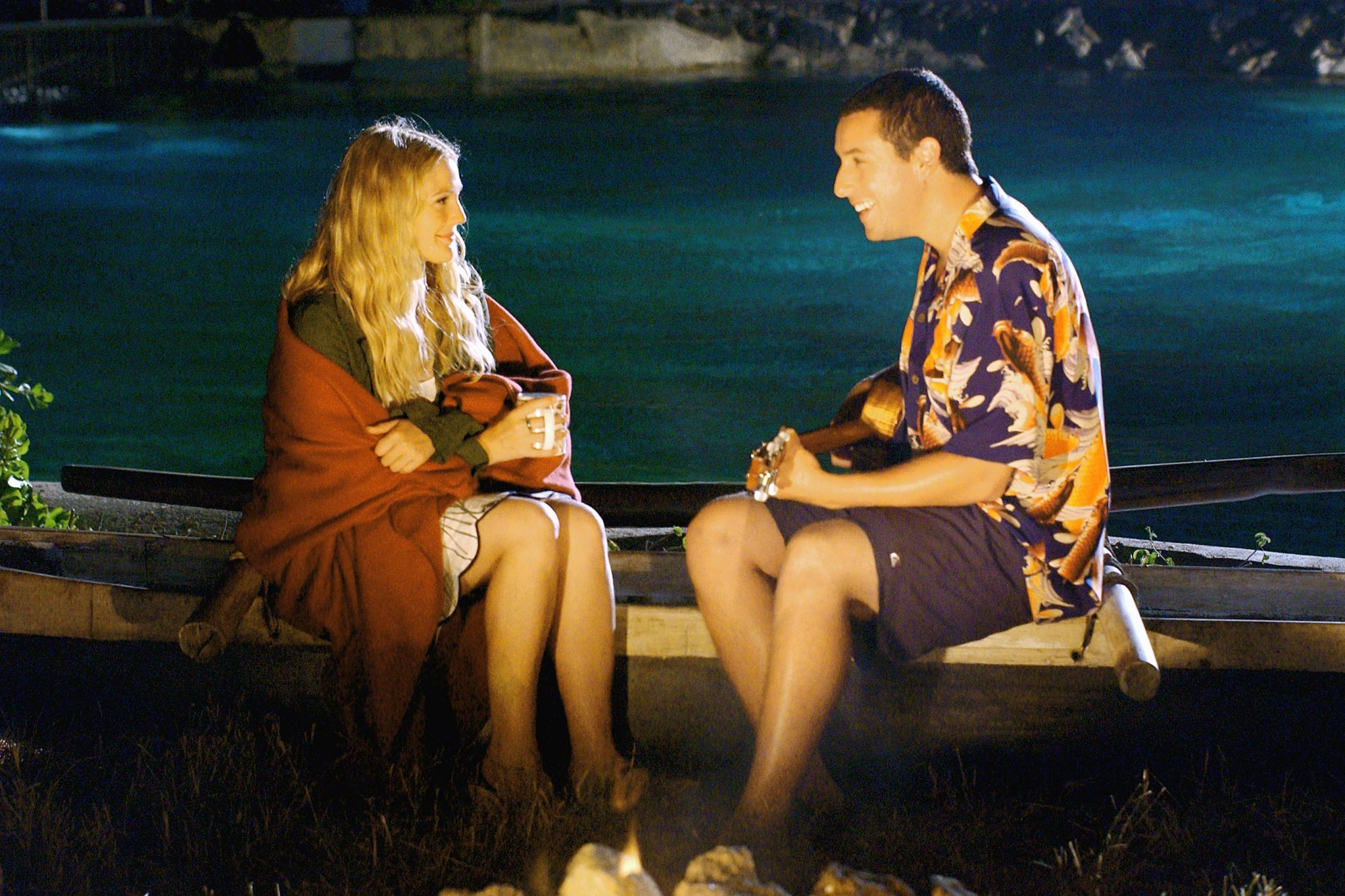 """50 First Dates"" (2004)(L to R) Drew Barrymore and Adam Sandler"
