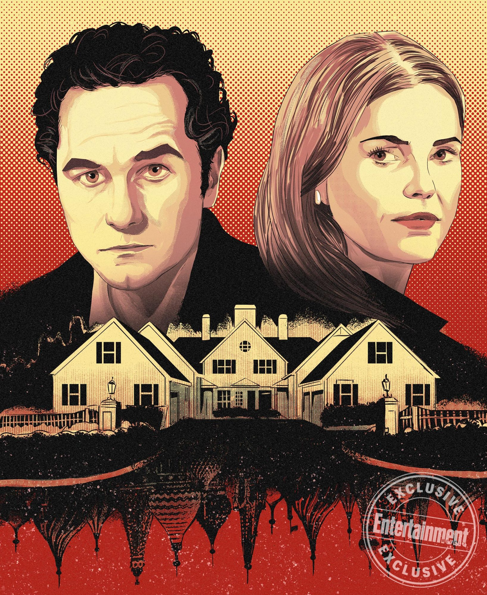 The Americans illustration by Ryan Inzana for EW TV section 1516/17