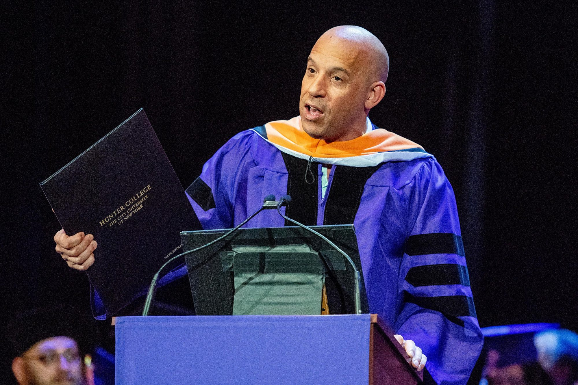 Actor Vin Diesel Speaks At Hunter College 2018 Commencement Ceremony