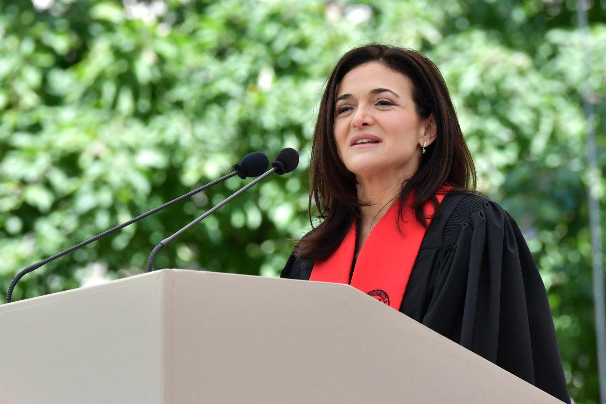 Sheryl Sandberg Delivers MIT Commencement Address