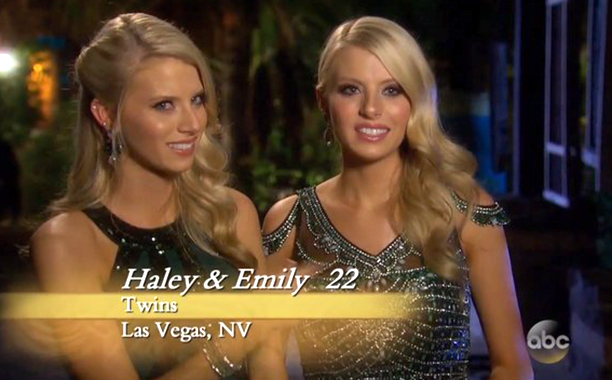 """Twins,"" Haley and Emily Ferguson on Season 20 of The Bachelor"