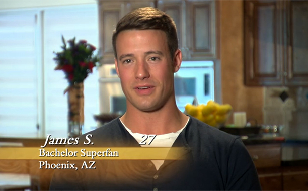 """Bachelor Superfan,"" James S. on Season 12 of The Bachelorette"