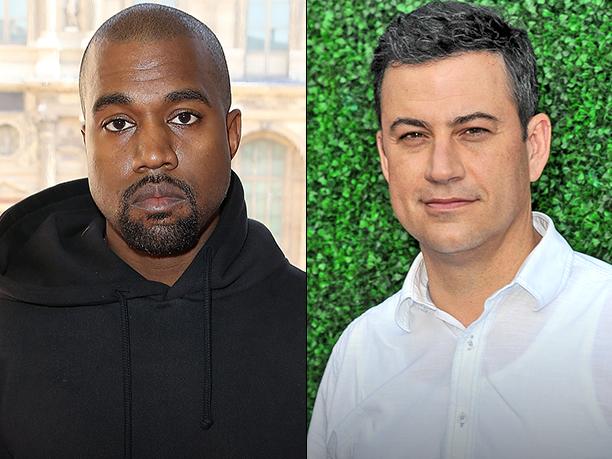 Kanye West and Jimmy Kimmel
