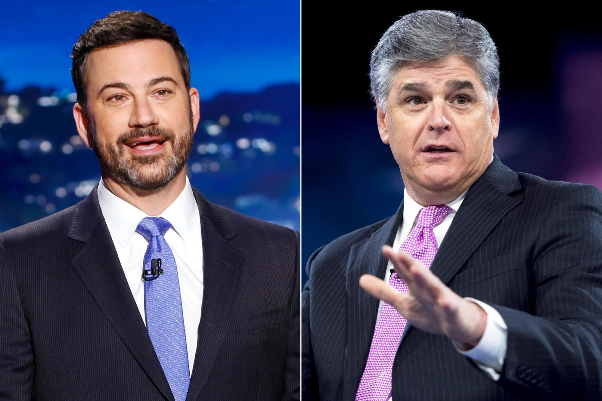 Jimmy Kimmel and Sean Hannity