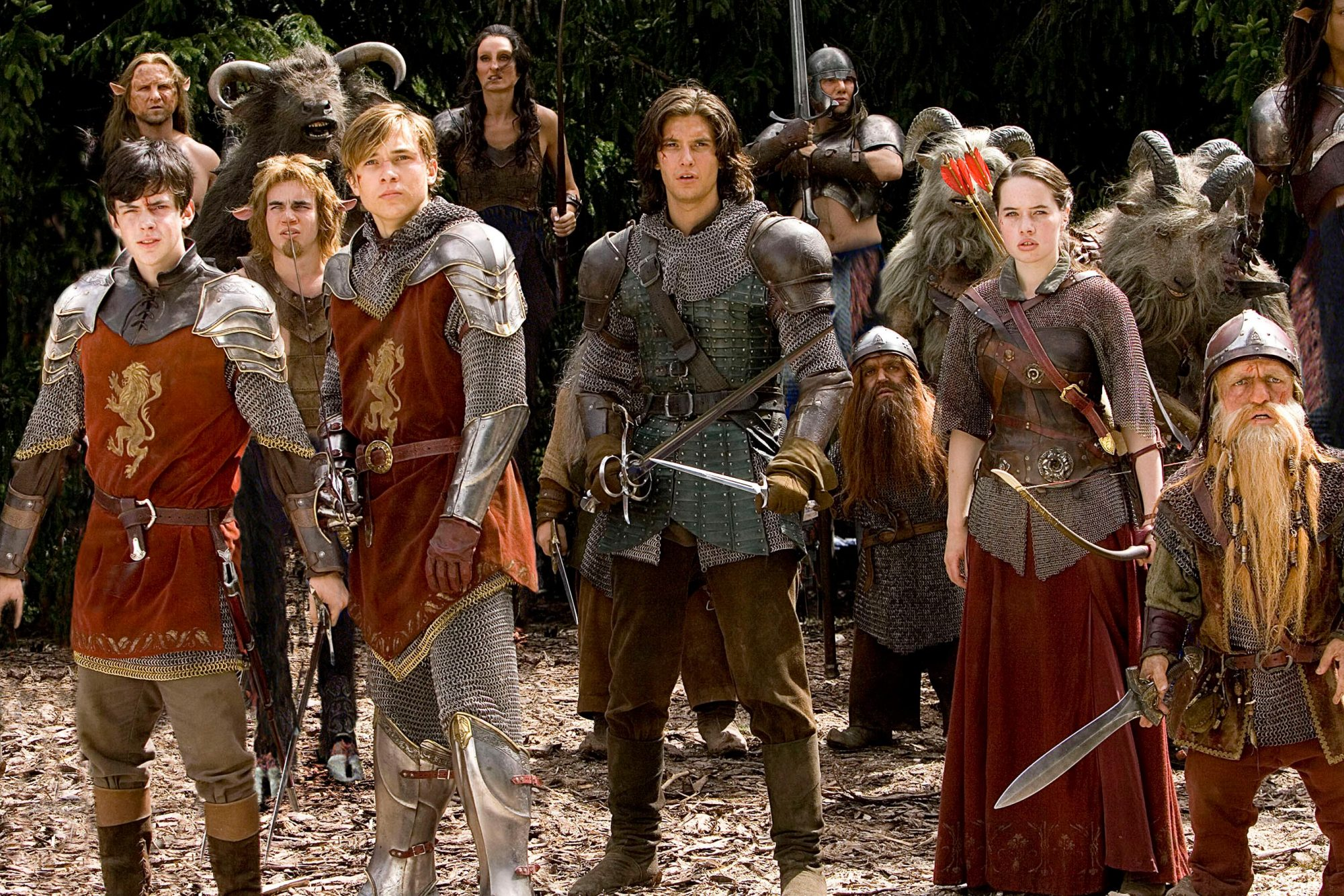 THE CHRONICLES OF NARNIA: PRINCE CASPIAN, Skander Keynes, William Moseley, Ben Barnes, Anna Popplewe