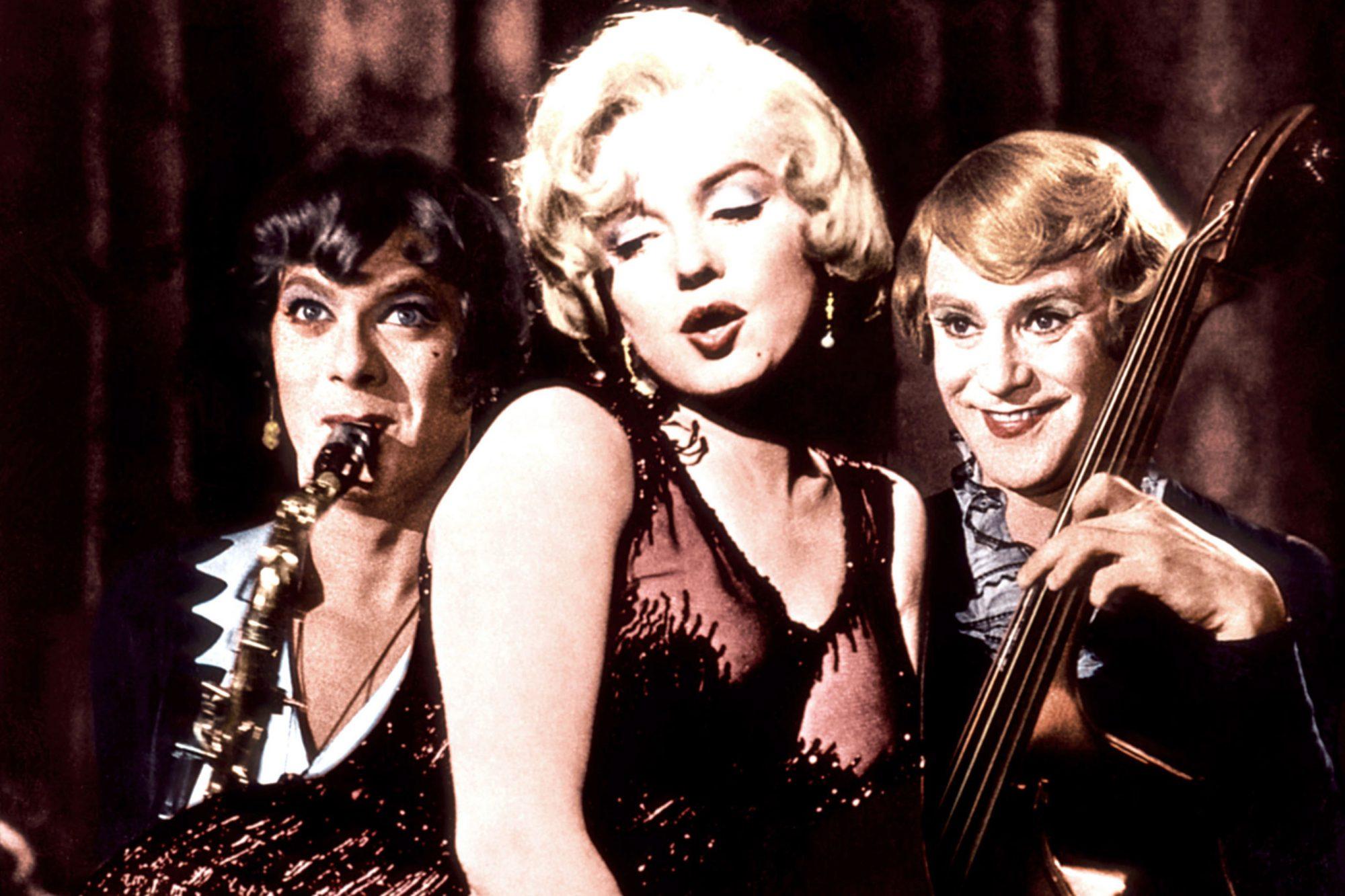 SOME LIKE IT HOT, Tony Curtis, Marilyn Monroe, Jack Lemmon, 1959