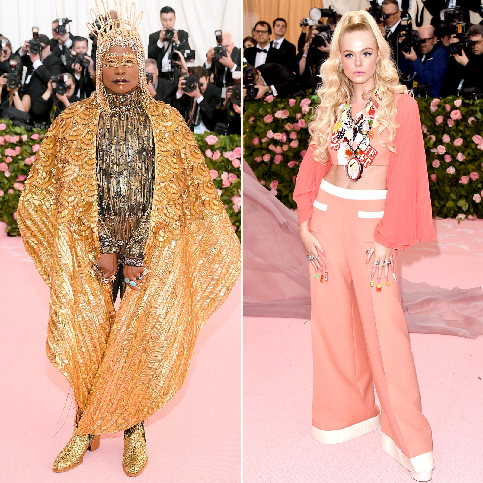 NEW YORK, NEW YORK - MAY 06: Billy Porter attends The 2019 Met Gala Celebrating Camp: Notes on Fashion at Metropolitan Museum of Art on May 06, 2019 in New York City. (Photo by Neilson Barnard/Getty Images) NEW YORK, NEW YORK - MAY 06: Elle Fanning attends The 2019 Met Gala Celebrating Camp: Notes on Fashion at Metropolitan Museum of Art on May 06, 2019 in New York City. (Photo by John Shearer/Getty Images for THR)