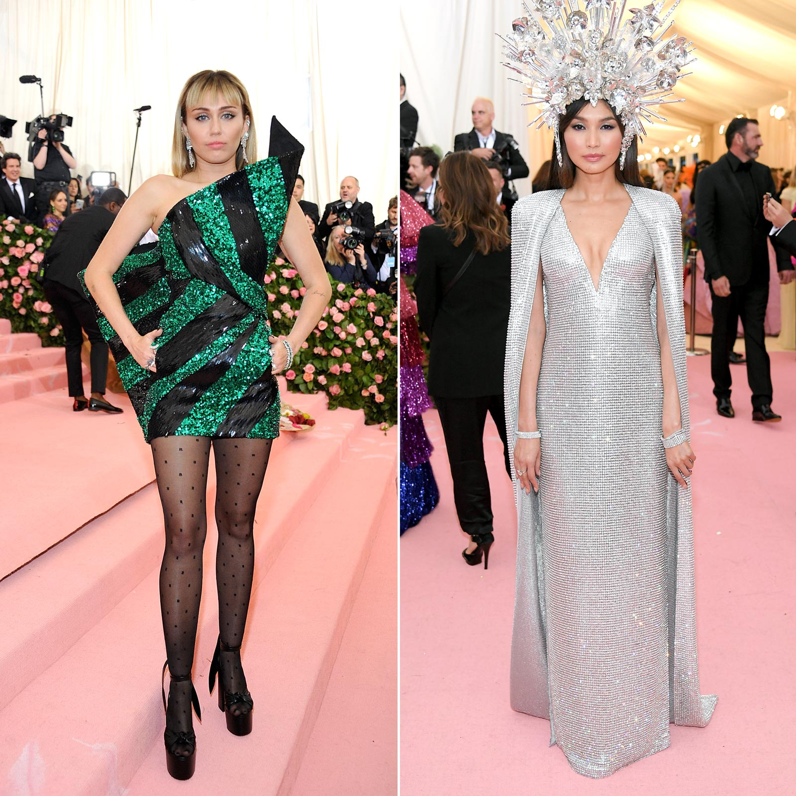 NEW YORK, NY - MAY 06: Miley Cyrus attends The 2019 Met Gala Celebrating Camp: Notes On Fashion at The Metropolitan Museum of Art on May 6, 2019 in New York City. (Photo by Rabbani and Solimene Photography/WireImage) NEW YORK, NEW YORK - MAY 06: Gemma Chan attends The 2019 Met Gala Celebrating Camp: Notes on Fashion at Metropolitan Museum of Art on May 06, 2019 in New York City. (Photo by Neilson Barnard/Getty Images)