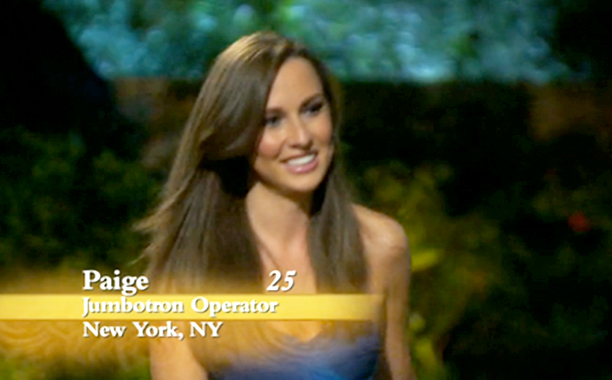 """Jumbotron Operator,"" Paige Vigil on Season 17 of The Bachelor"