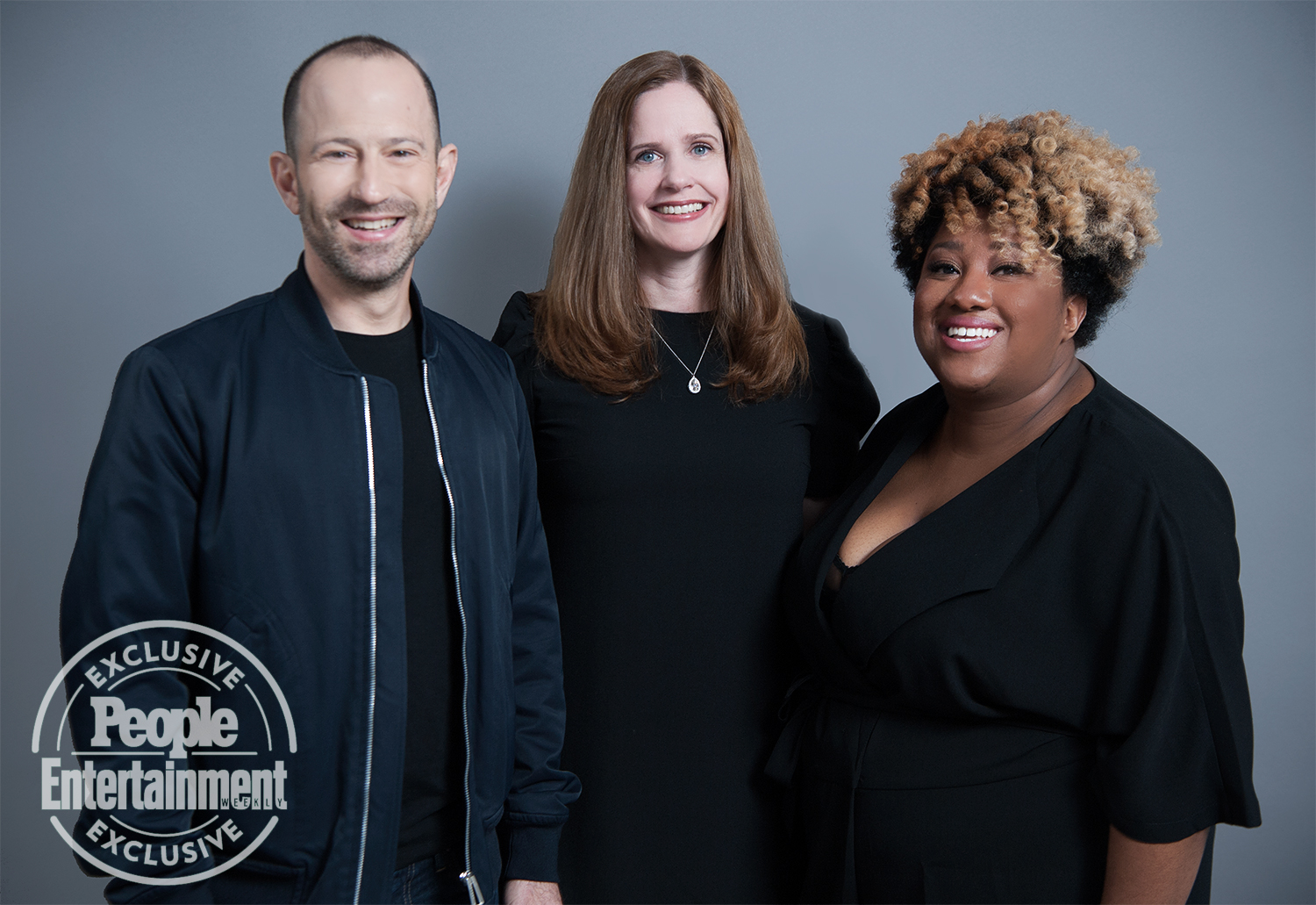 Mike Rubens, Alison Camillo, and Ashley Nicole Black of Full Frontal with Samantha Bee
