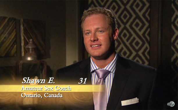 """Amateur Sex Coach,"" Shawn Evans on Season 11 of The Bachelorette"