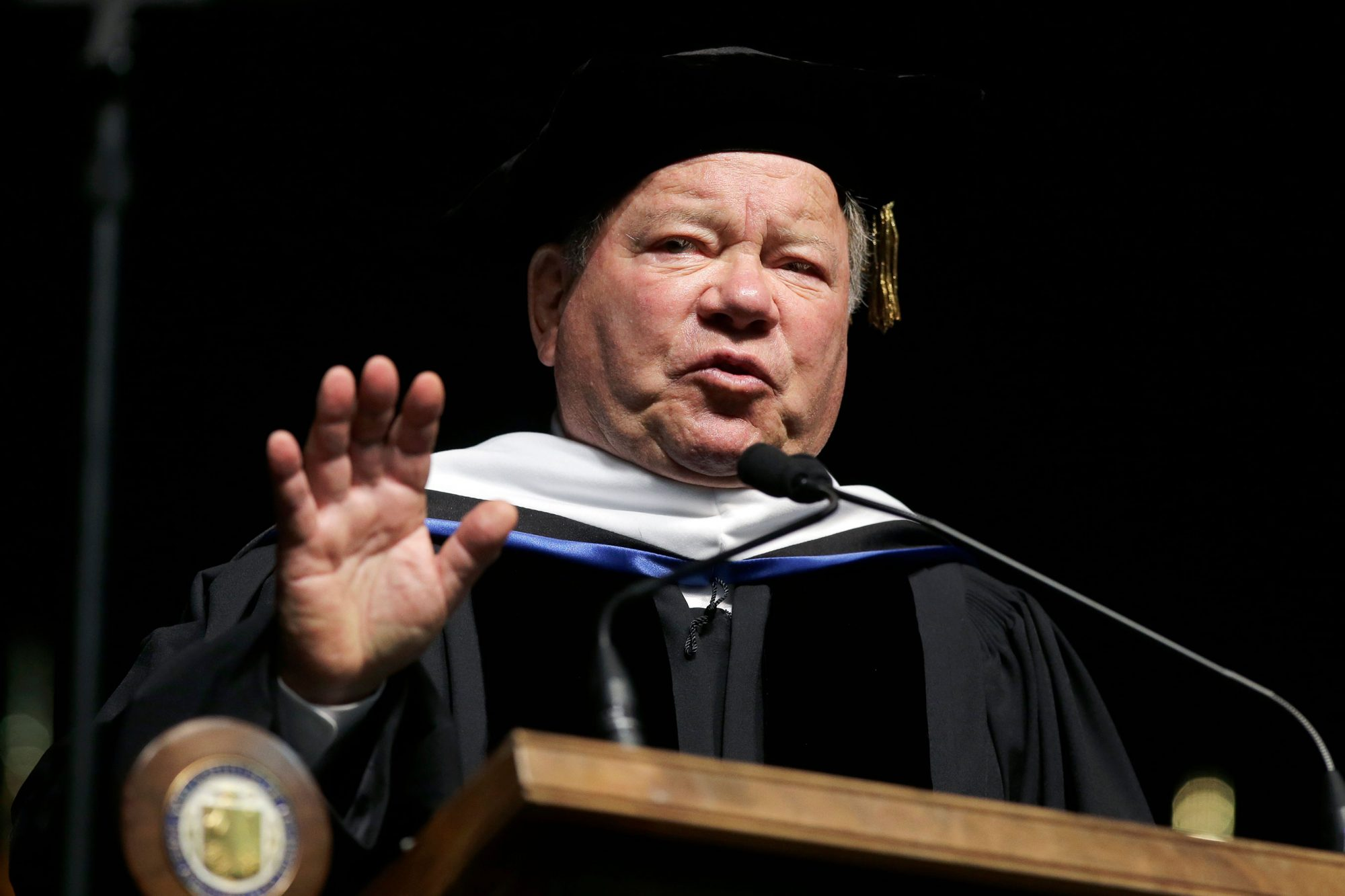 People Shatner Commencement, Providence, USA - 06 May 2018