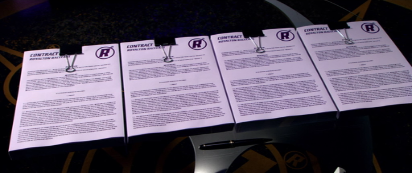 Speed Racer Contracts