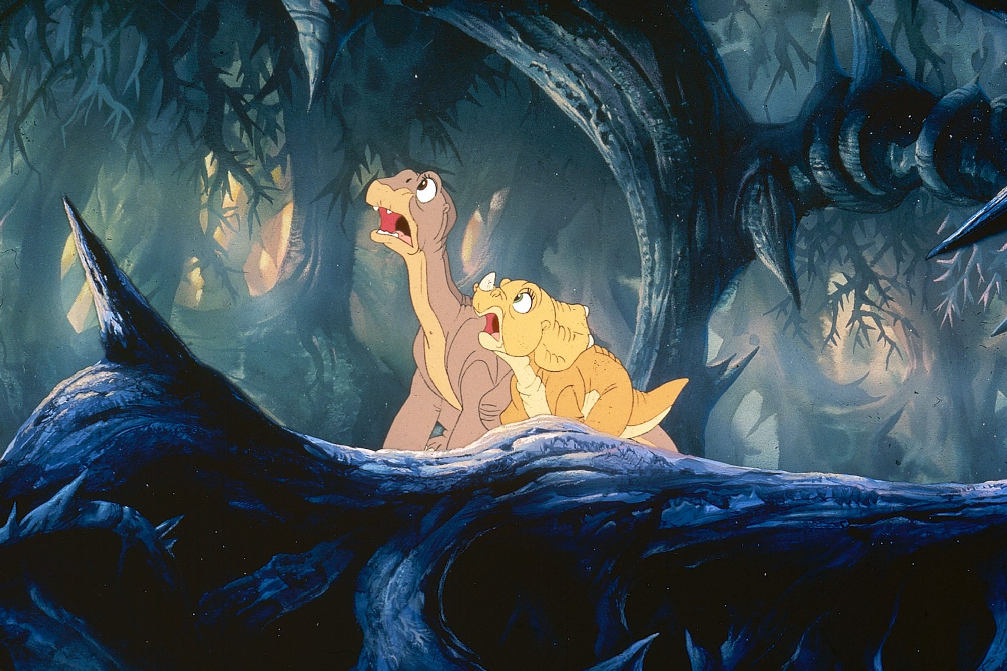 Land Before Time (1988)Littlefoot (L) and Ducky