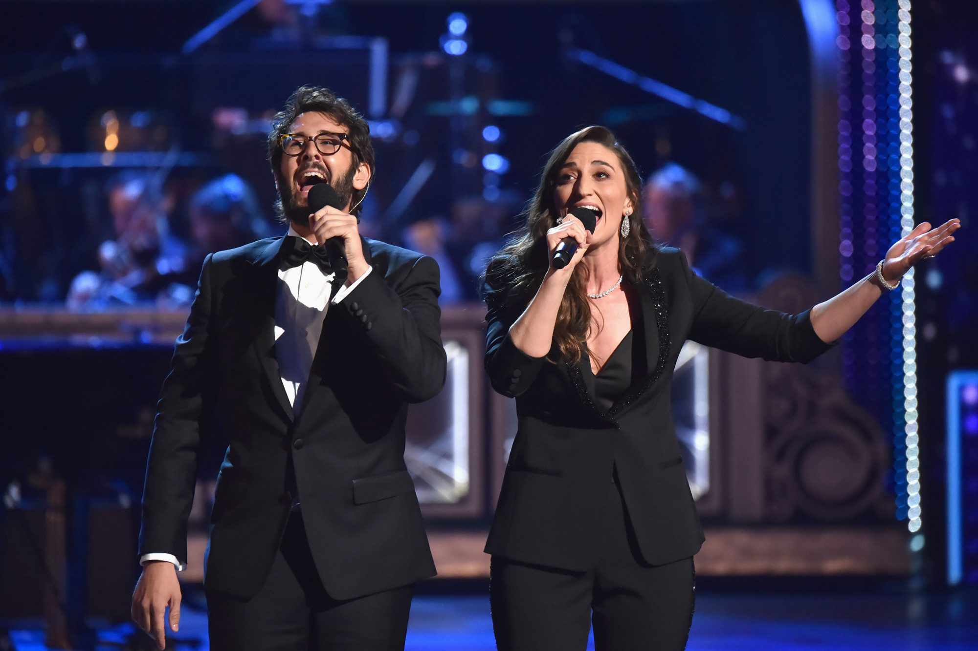 Josh Groban and Sara Bareilles' opening number