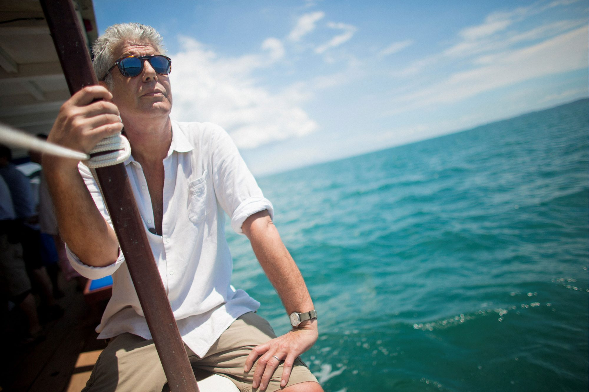 Anthony Bourdain shooting 'Anthony Bourdain Parts Unknown' on lo