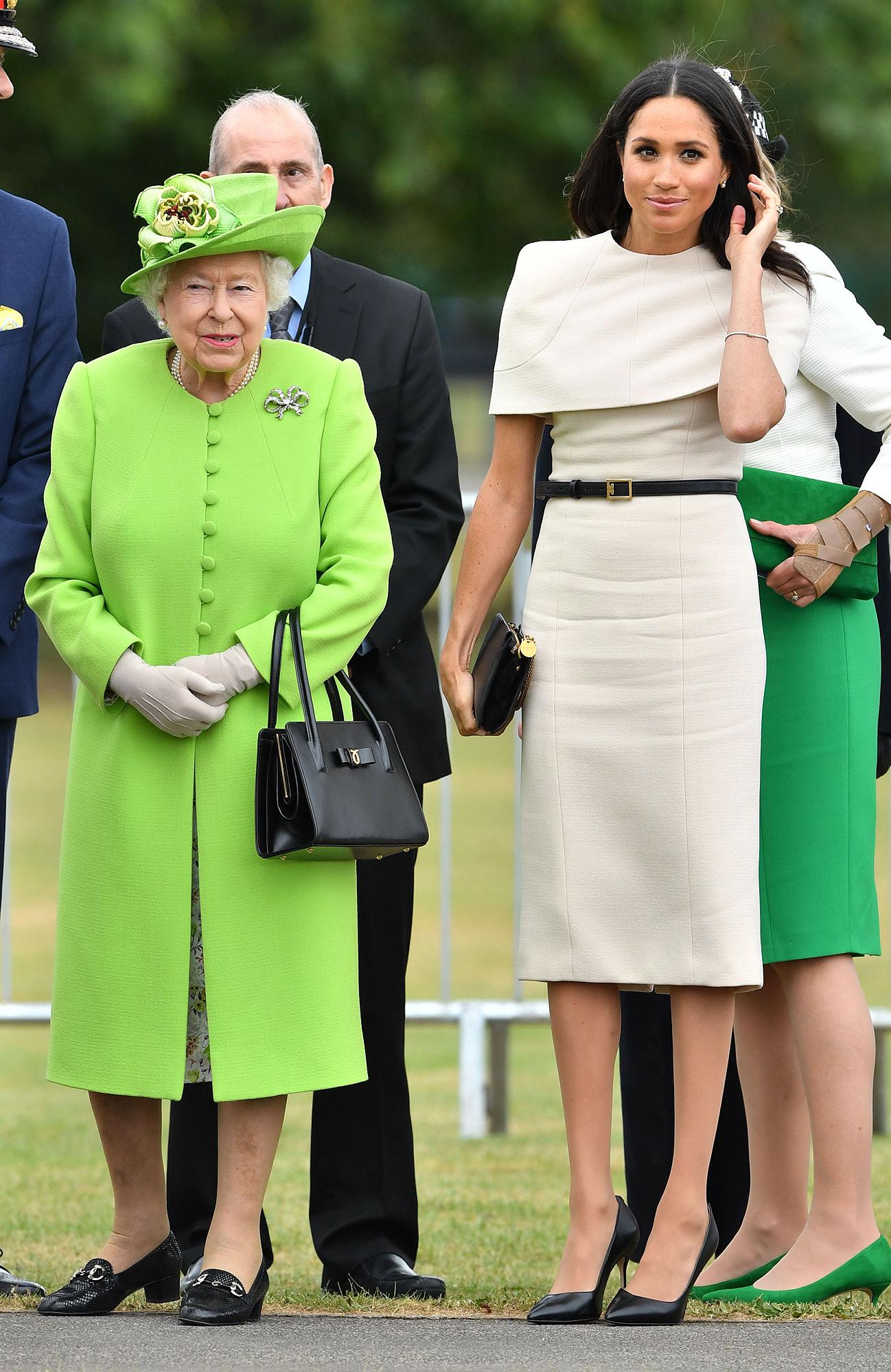 Queen Elizabeth II and Meghan Duchess of Sussex visit Cheshire, UK - 14 Jun 2018