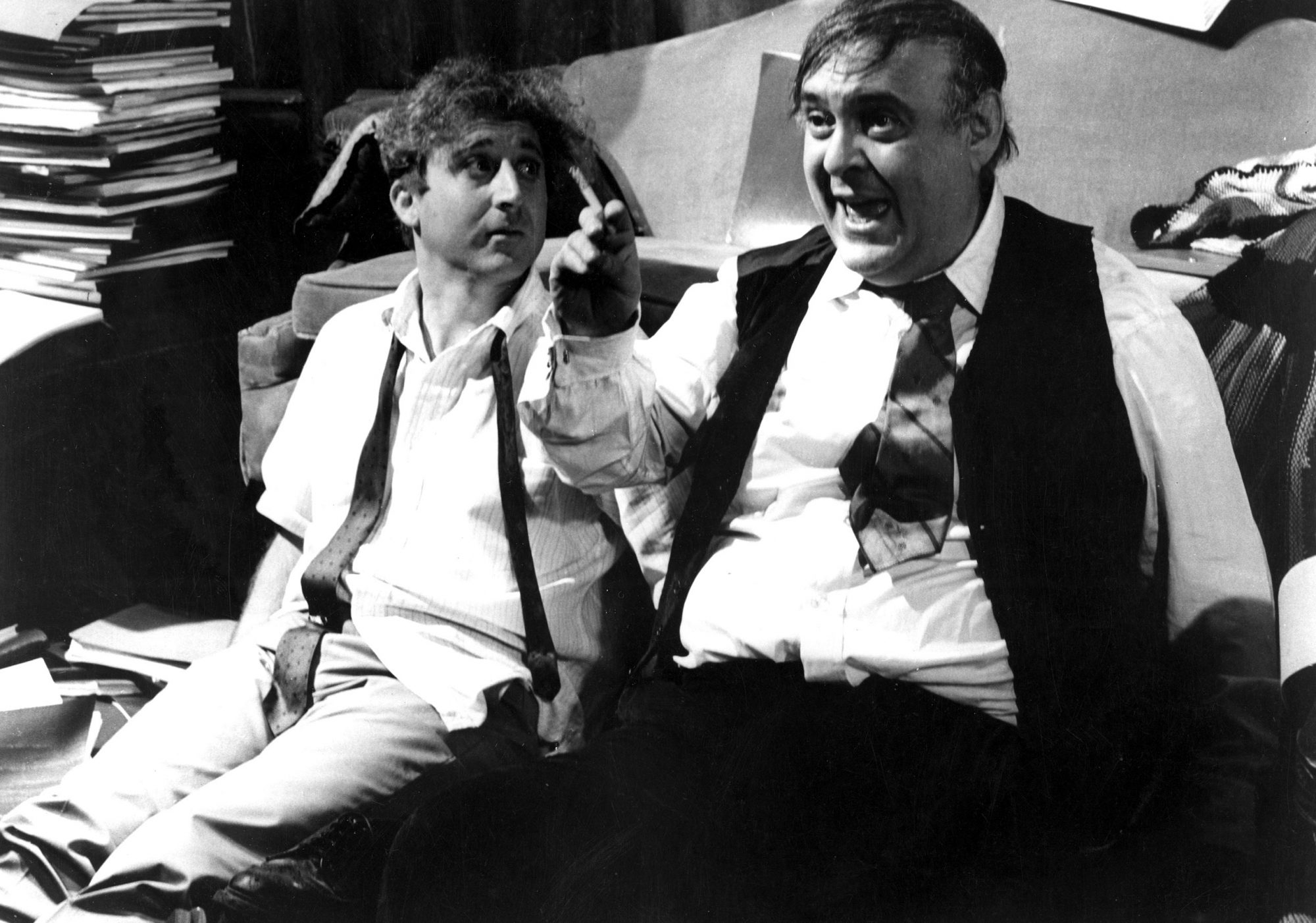 THE PRODUCERS, Gene Wilder, Zero Mostel, 1968.