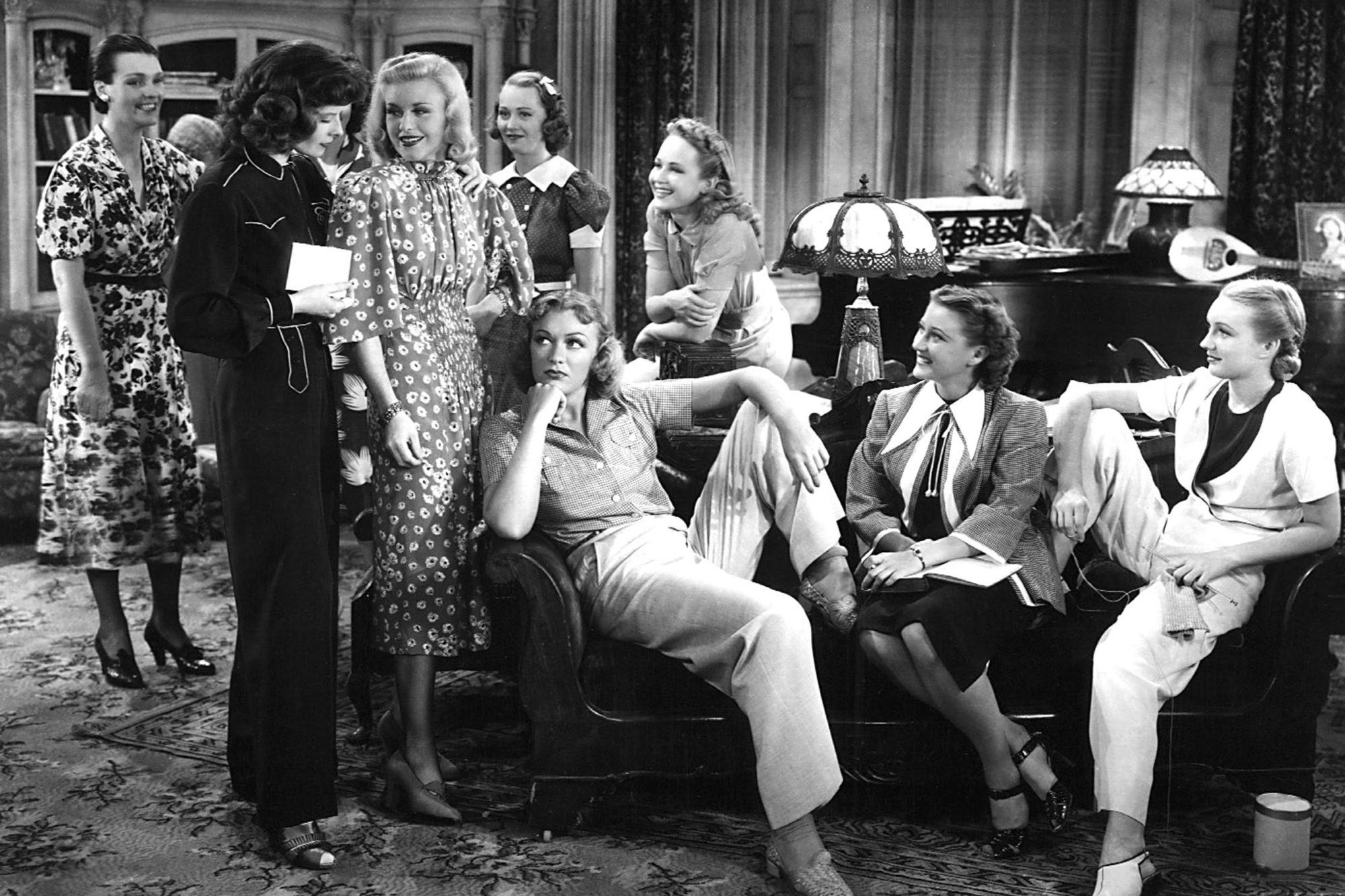 STAGE DOOR, Katharine Hepburn, Ginger Rogers, Eve Arden, 1937