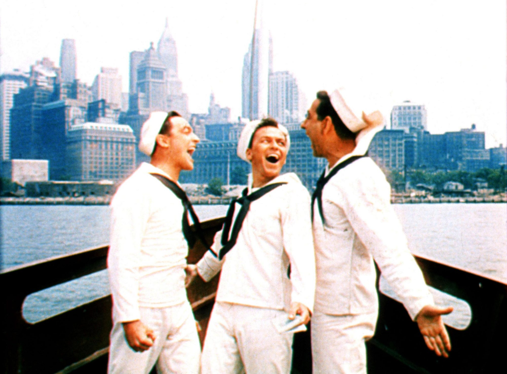 ON THE TOWN, Gene Kelly, Frank Sinatra, Jules Munshin, 1949