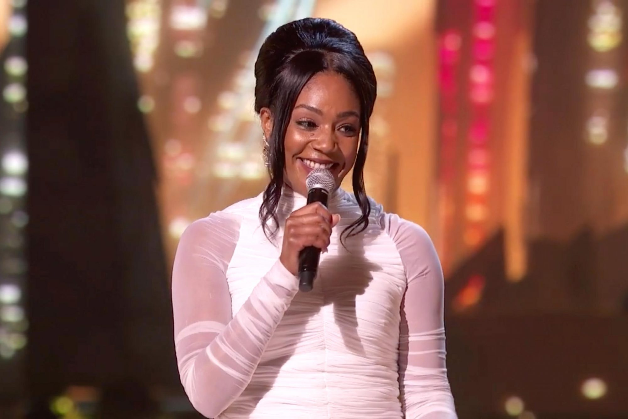 Tiffany Haddish hosting the MTV Movie and TV Awards (screen grab) CR: MTV