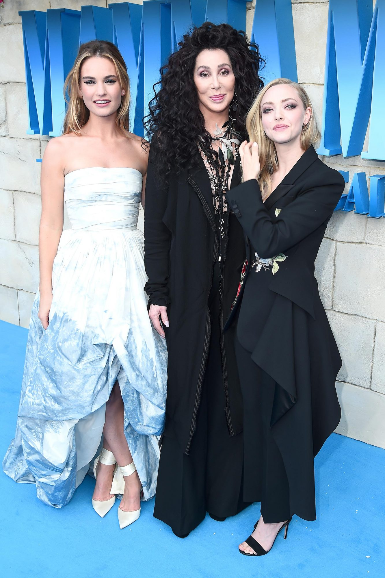 Lily James, Cher, and Amanda Seyfried
