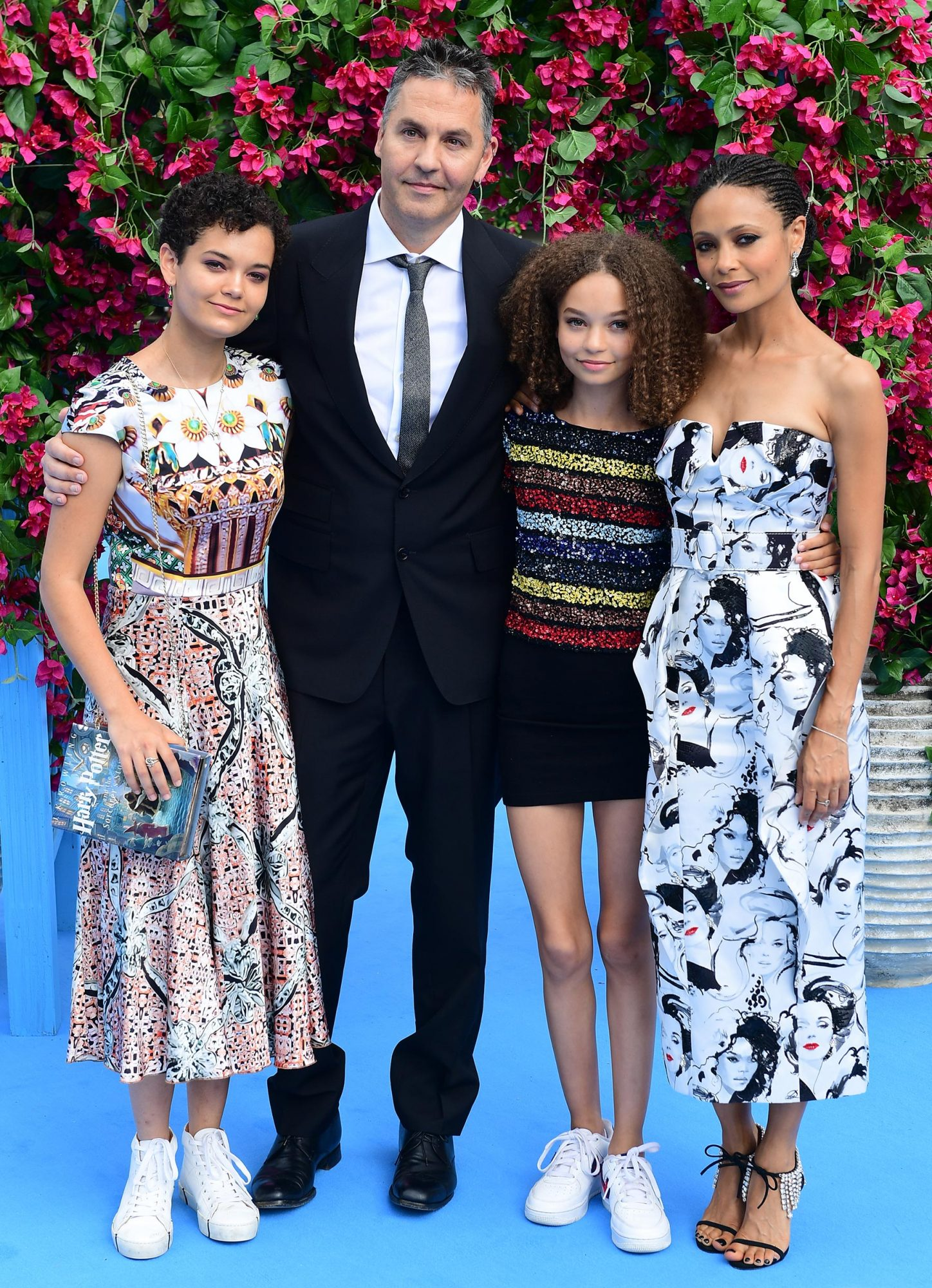Ol Parker, Thandie Newton, and family