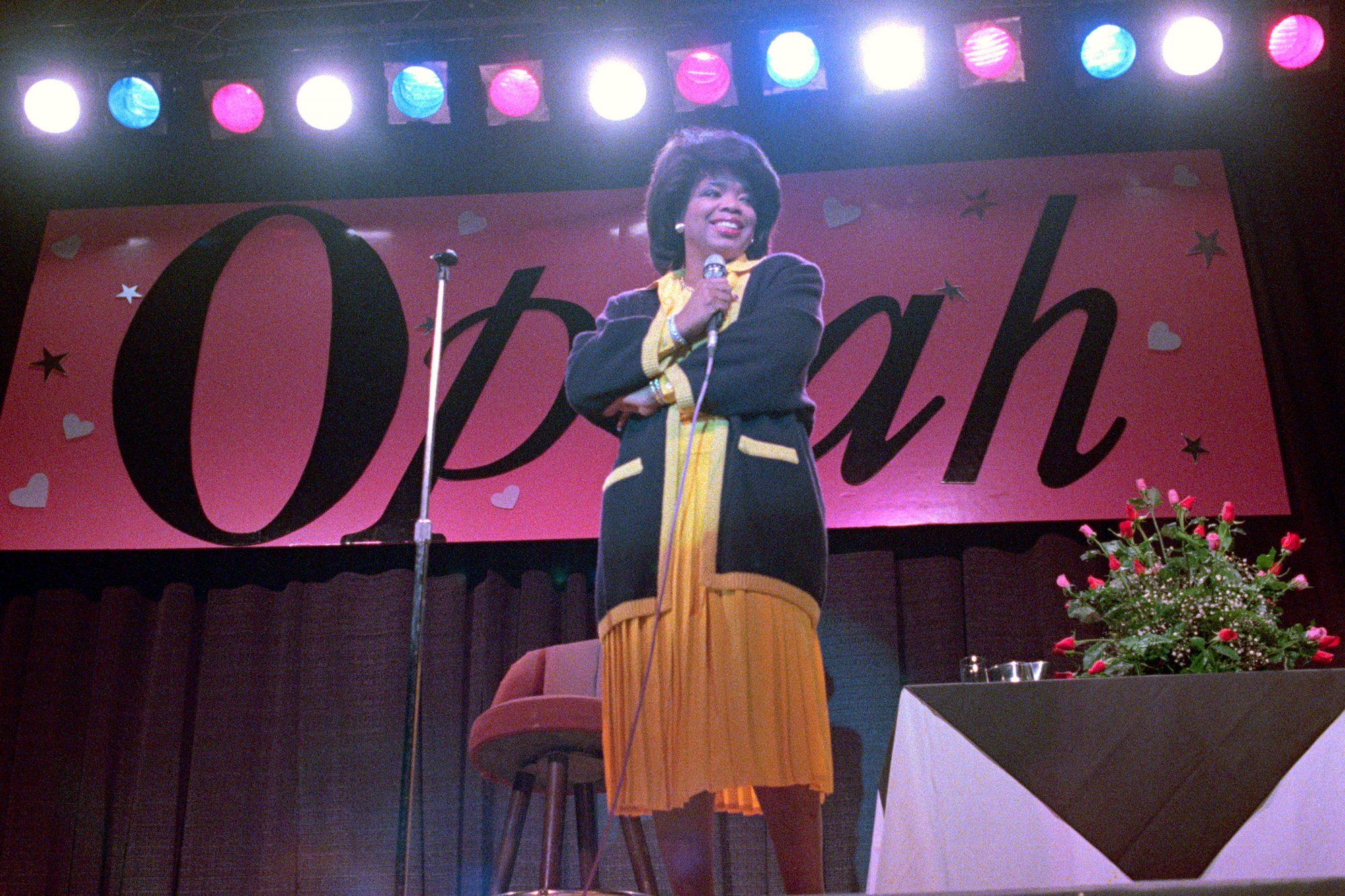 Oprah Winfrey Entertaining on Stage