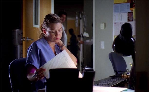 Ellen Pompeo and Jessica Capshaw as Meredith Grey and Arizona Robbins on Grey's Anatomy