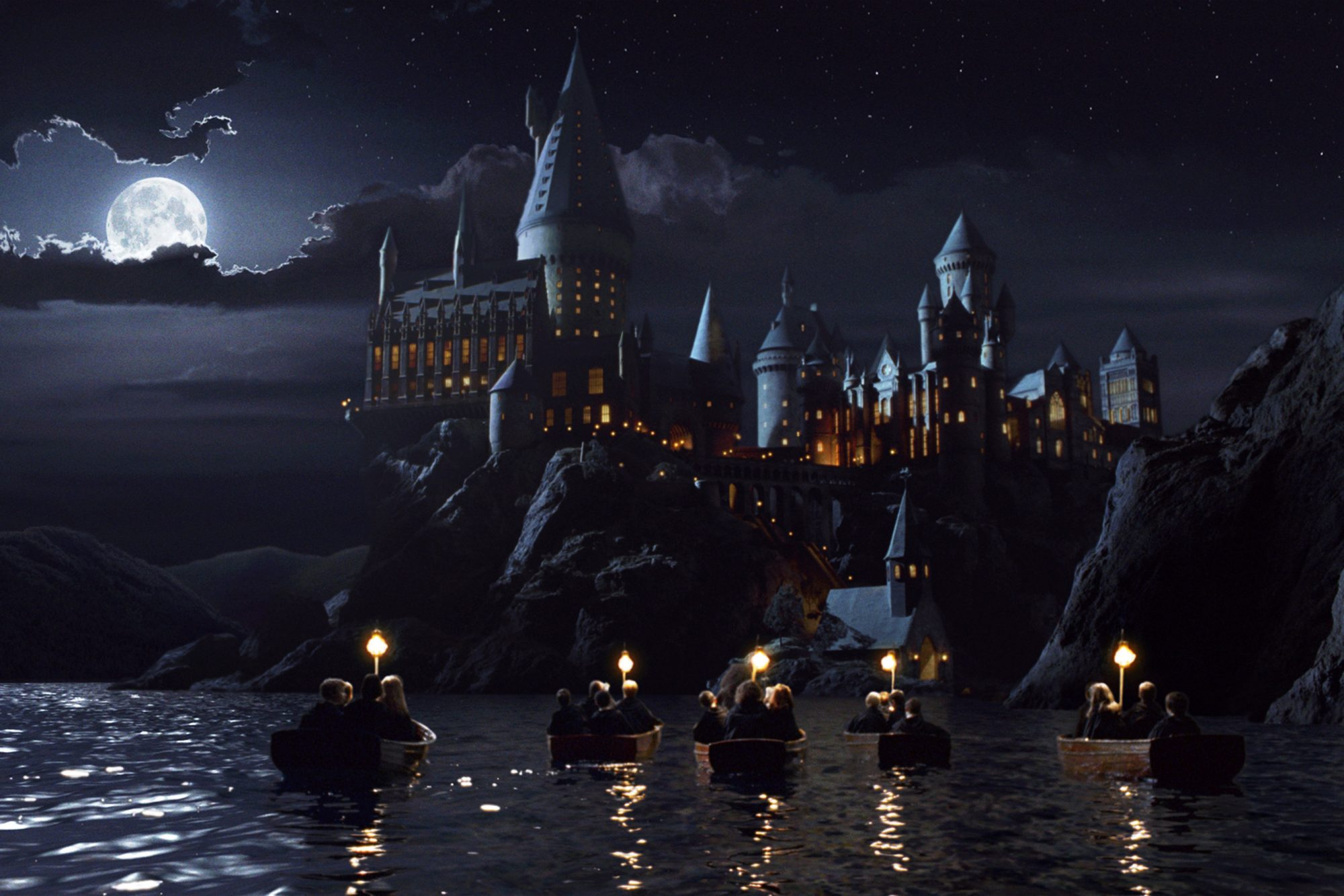 Harry Potter and the Sorcerer's Stone (2001)Students arrive at Hogwarts Castle