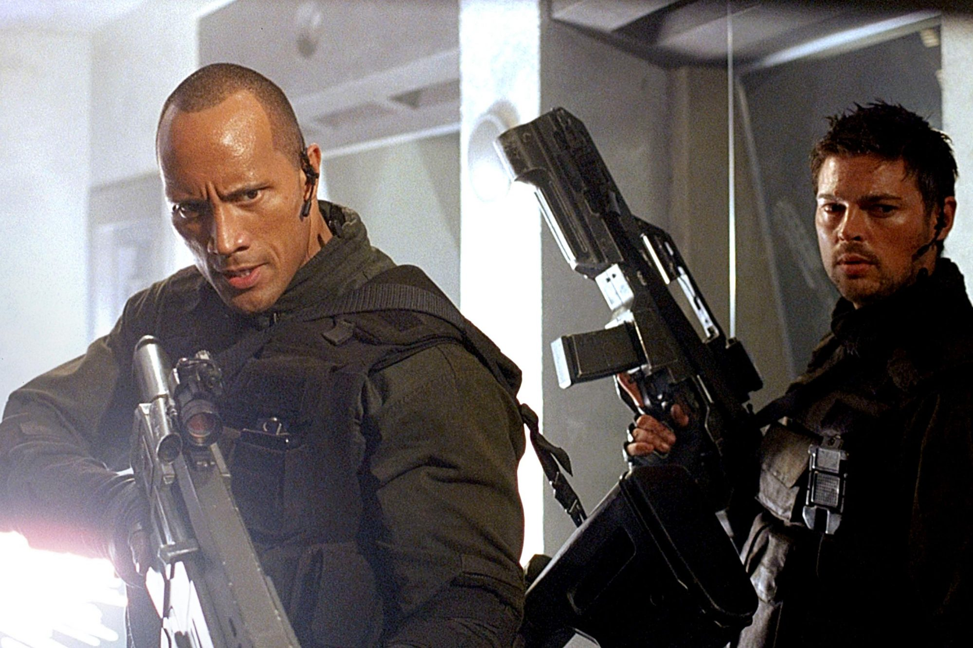 DOOM, Dwayne 'The Rock' Johnson, Karl Urban, 2005, (c) Universal/courtesy Everett Collection
