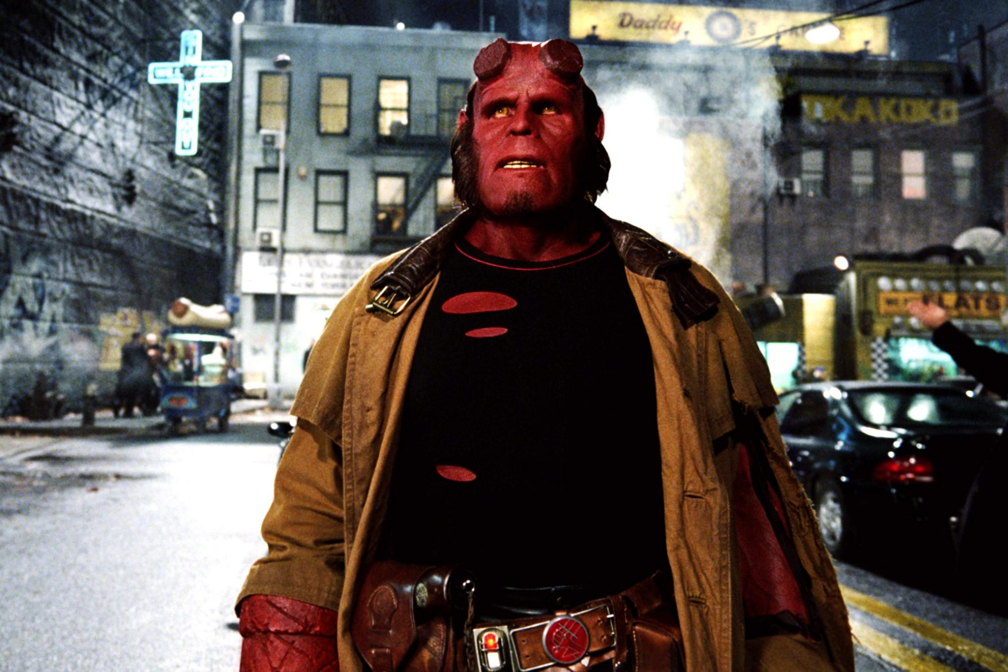 HELLBOY II: THE GOLDEN ARMY, (aka HELLBOY 2), Ron Perlman (left), 2008. ©Universal/courtesy Everett