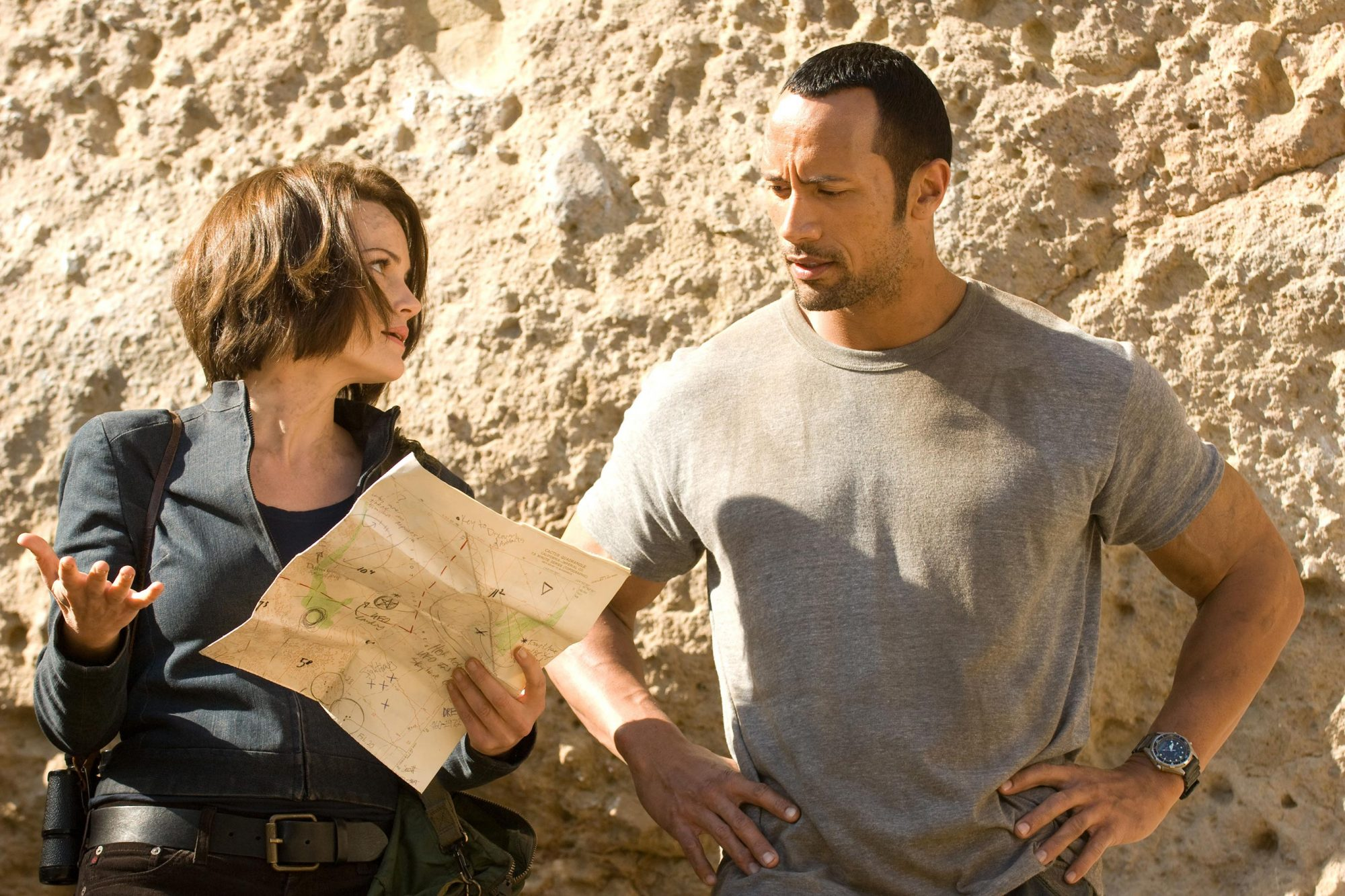 RACE TO WITCH MOUNTAIN, from left: Carla Gugino, Dwayne Johnson, 2009. ©Walt Disney Co./courtesy Eve