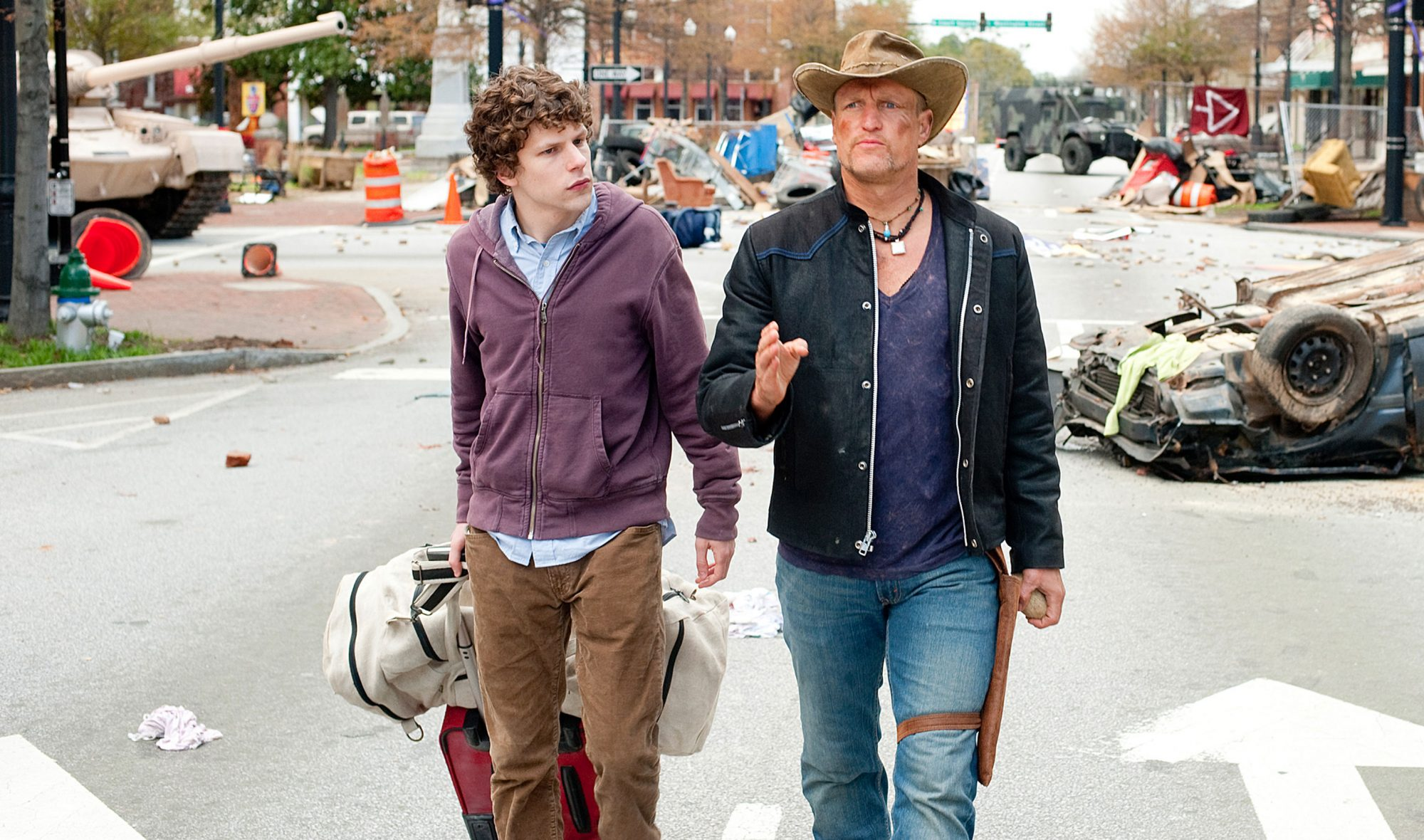 ZOMBIELAND, from left: Jesse Eisenberg, Woody Harrelson, 2009, Ph: Glen Wilson/© Columbia/courtesy E