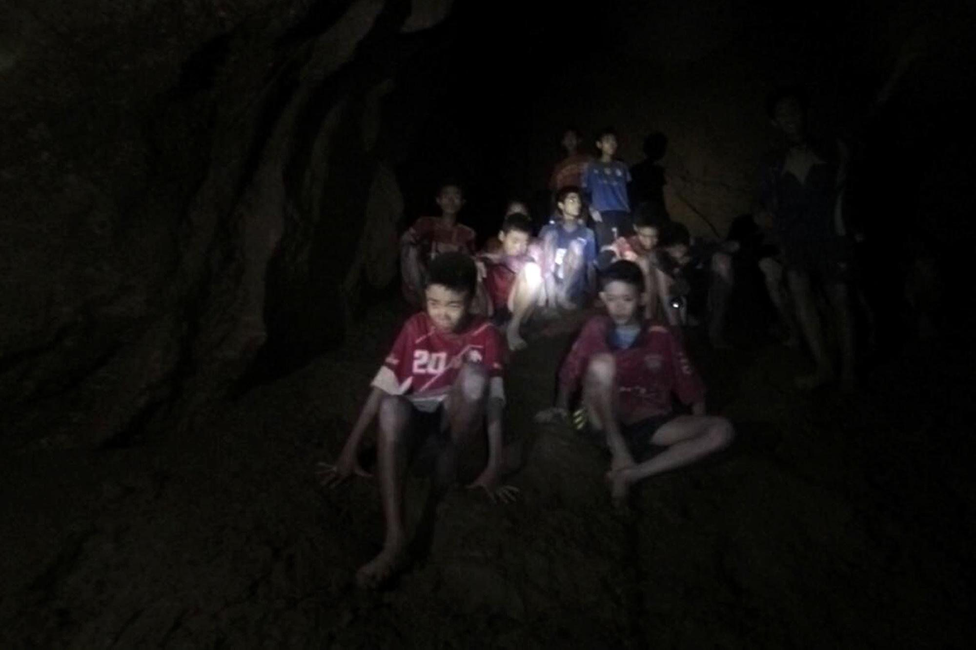 Thai cave missing members of football team found alive, Chiang Rai, Thailand - 02 Jul 2018