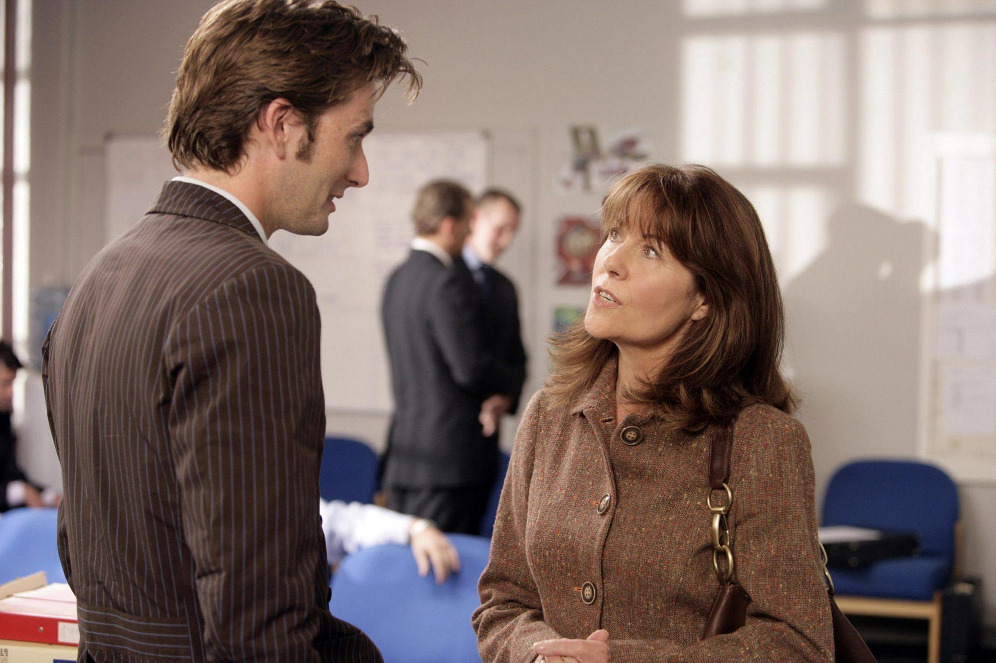DOCTOR WHO, David Tennant, Elisabeth Sladen, 'School Reunion', (Season 2, ep. 203), 2005-. photo: Ad