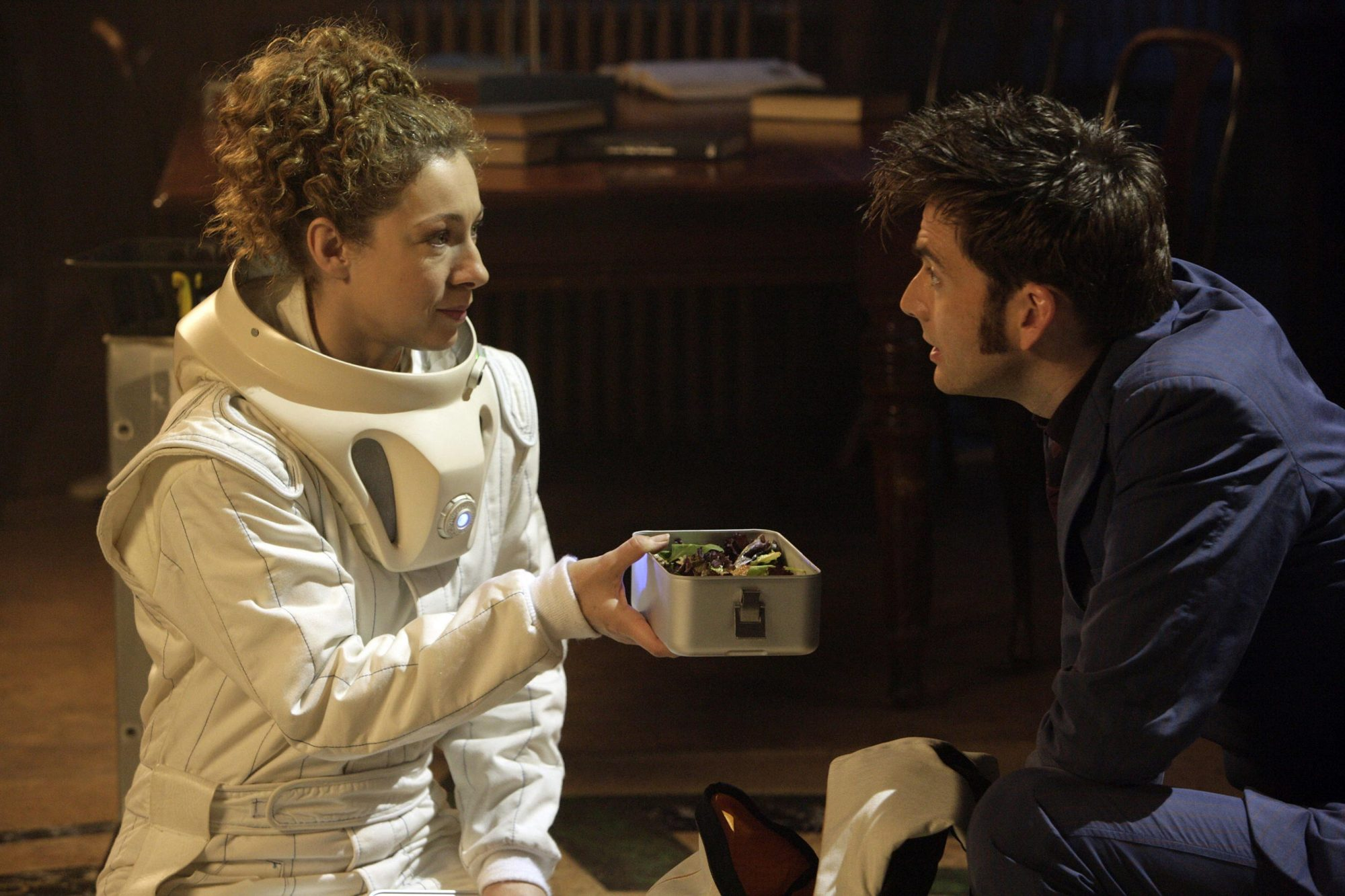DOCTOR WHO, (from left): Alex Kingston, David Tennant, 'Silence In The Library', (Season 4, aired Ma