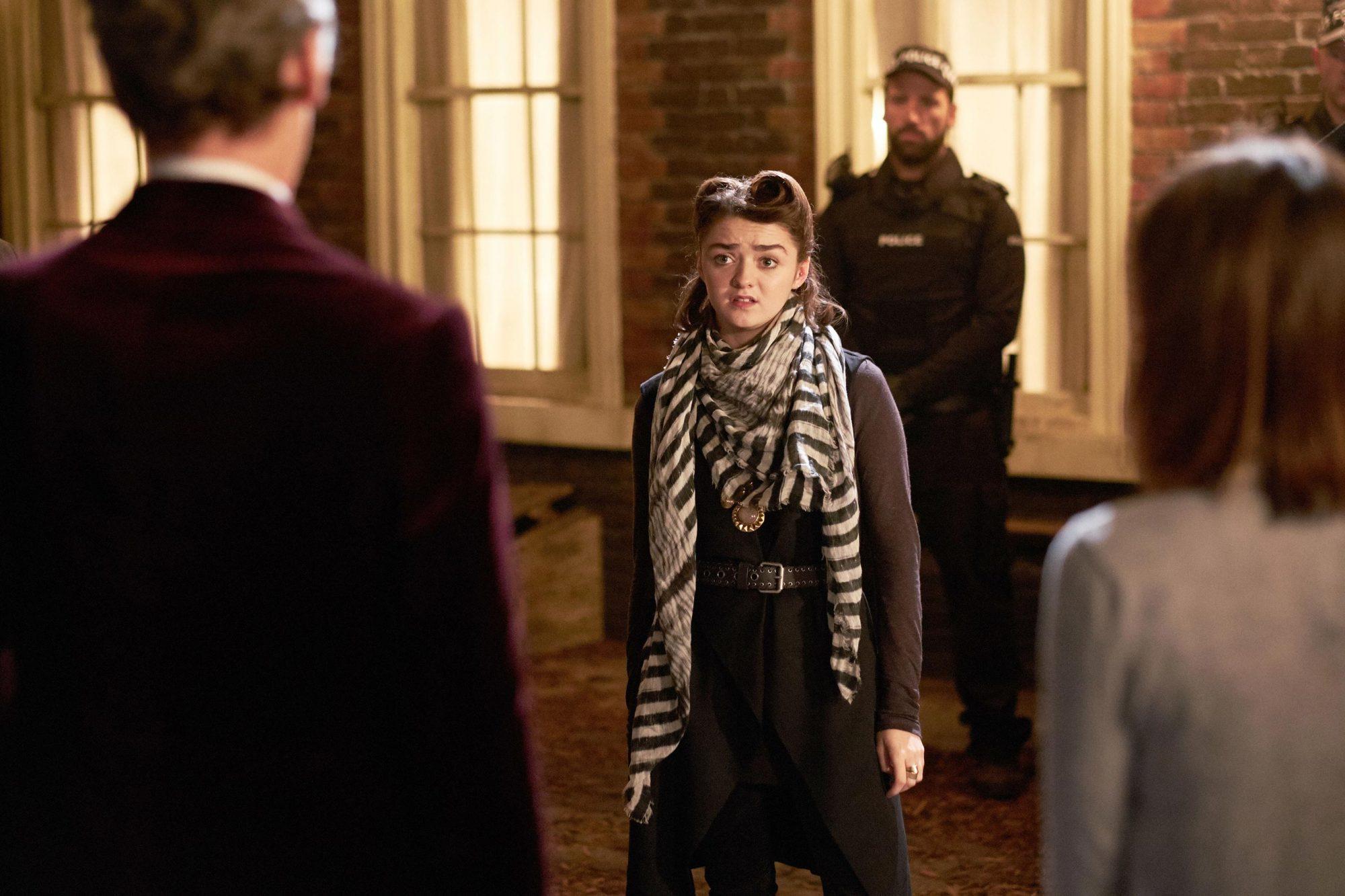 DOCTOR WHO, Maisie Williams (center), 'Face The Raven', (Season 9, ep. 910, aired Nov. 21, 2015).