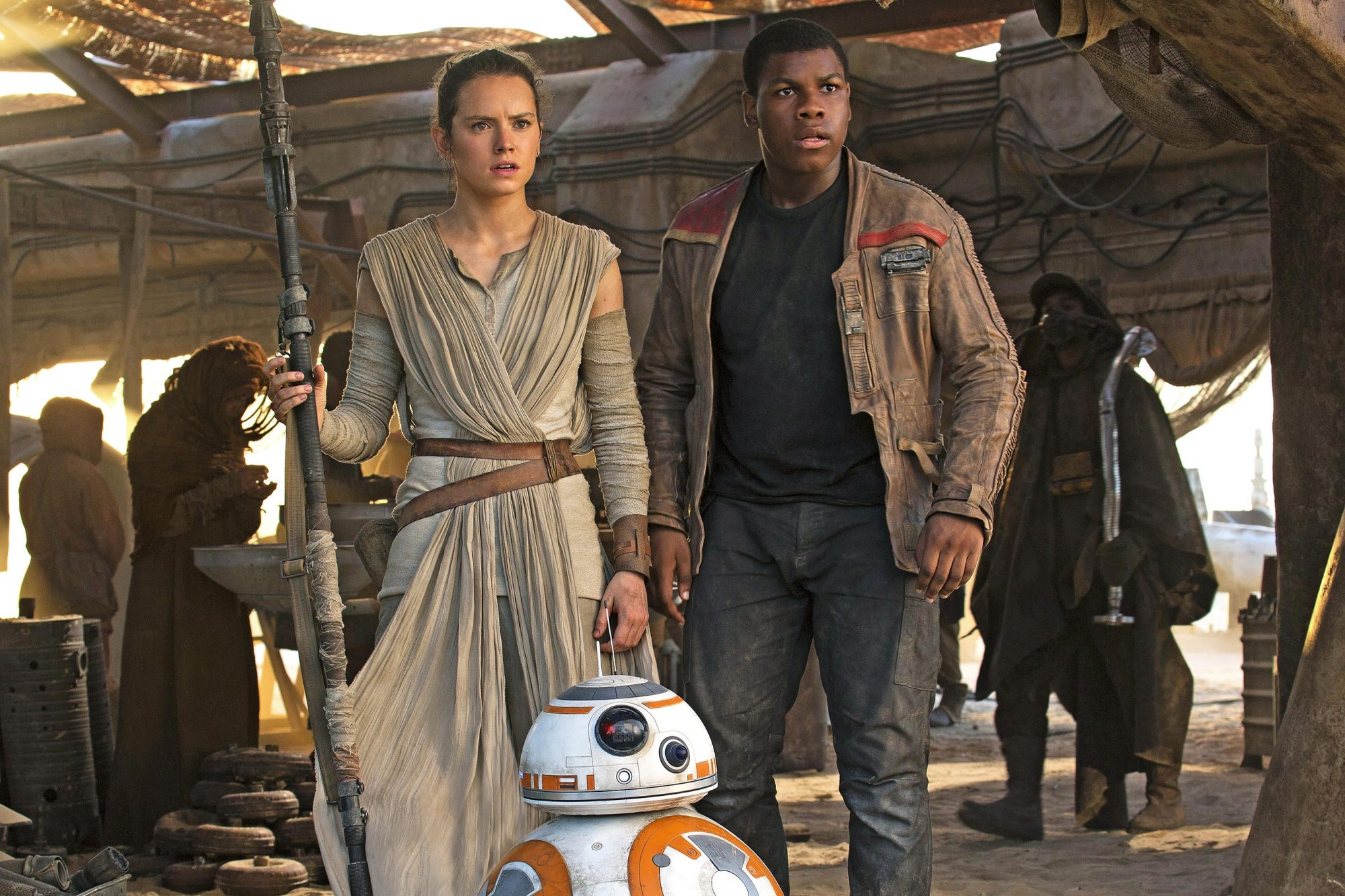 Star Wars: The Force Awakens (2015)Daisy Ridley, BB-8, John Boyega